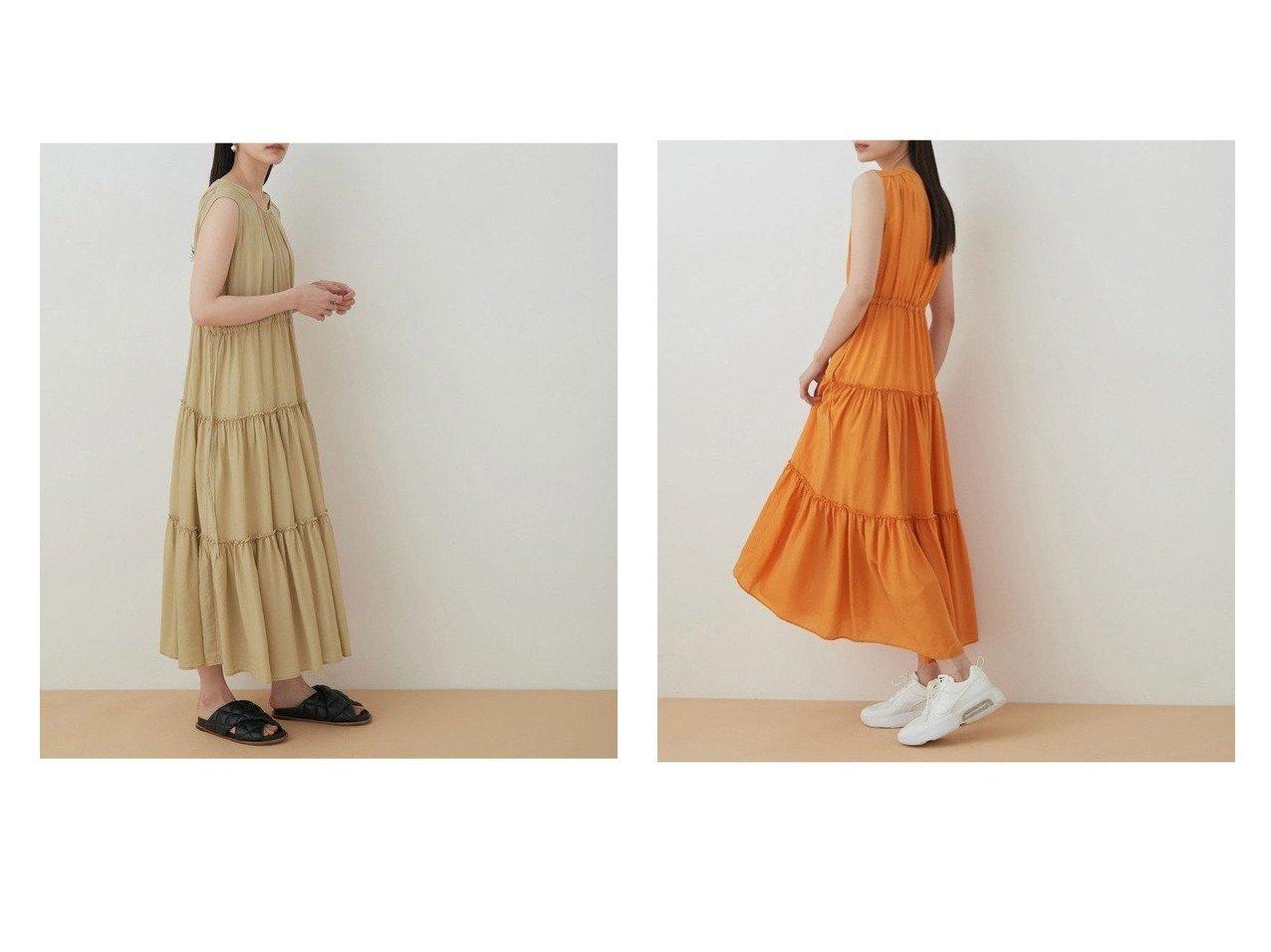 【ADAM ET ROPE'/アダム エ ロペ】のティアードドロストワンピース 【ワンピース・ドレス】おすすめ!人気、トレンド・レディースファッションの通販 おすすめで人気の流行・トレンド、ファッションの通販商品 インテリア・家具・メンズファッション・キッズファッション・レディースファッション・服の通販 founy(ファニー) https://founy.com/ ファッション Fashion レディースファッション WOMEN ワンピース Dress イエロー オレンジ 春 Spring カーディガン 切替 サンダル シアー ティアード ティアードワンピース フィット フレア ロング 2021年 2021 S/S・春夏 SS・Spring/Summer 2021春夏・S/S SS/Spring/Summer/2021 おすすめ Recommend 夏 Summer |ID:crp329100000048704