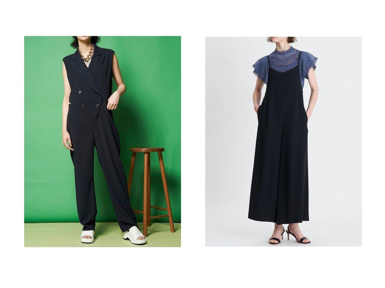 【MAISON SPECIAL/メゾンスペシャル】のテーラードオールインワン&【ANAYI/アナイ】のジョーゼットオールインワン 【ワンピース・ドレス】おすすめ!人気、トレンド・レディースファッションの通販  おすすめで人気の流行・トレンド、ファッションの通販商品 インテリア・家具・メンズファッション・キッズファッション・レディースファッション・服の通販 founy(ファニー) https://founy.com/ ファッション Fashion レディースファッション WOMEN パンツ Pants オケージョン キャミソール ジャケット ストレッチ スリット タンク インナー サロペット シンプル ジョーゼット ドレープ ラップ ワイド |ID:crp329100000049254