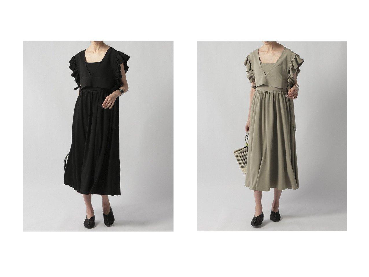 【Ezick/エジック】のボレロセットキャミOP 【ワンピース・ドレス】おすすめ!人気、トレンド・レディースファッションの通販  おすすめで人気の流行・トレンド、ファッションの通販商品 インテリア・家具・メンズファッション・キッズファッション・レディースファッション・服の通販 founy(ファニー) https://founy.com/ ファッション Fashion レディースファッション WOMEN アウター Coat Outerwear ボレロ Bolero jackets おすすめ Recommend キャミソール ギャザー フィット フリル ボレロ リボン ロング 切替 |ID:crp329100000049255