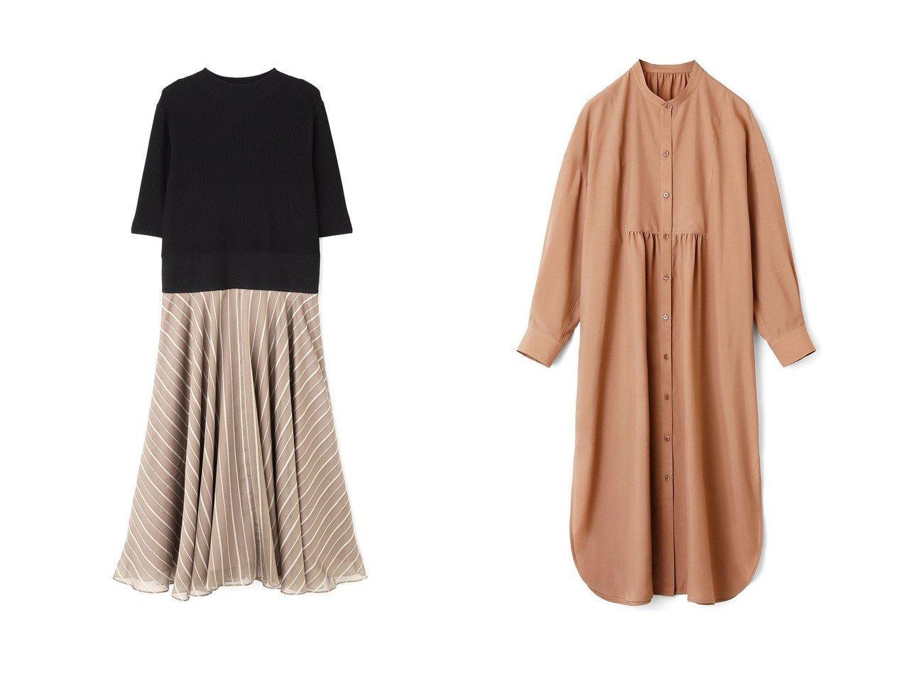 【ANAYI/アナイ】のソフトタイプライターシャツ ワンピース&【ADORE/アドーア】のシアーストライプワンピース 【ワンピース・ドレス】おすすめ!人気、トレンド・レディースファッションの通販  おすすめで人気の流行・トレンド、ファッションの通販商品 インテリア・家具・メンズファッション・キッズファッション・レディースファッション・服の通販 founy(ファニー) https://founy.com/ ファッション Fashion レディースファッション WOMEN ワンピース Dress シャツワンピース Shirt Dresses カフス ショルダー スタンド スリット タイプライター ドロップ ロング |ID:crp329100000049258