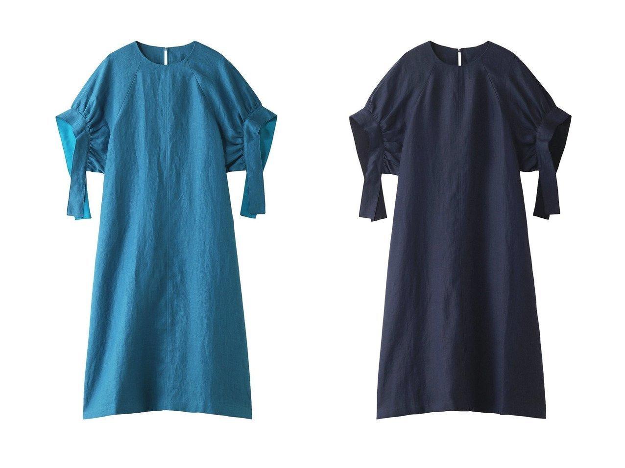 【HOUSE OF LOTUS/ハウス オブ ロータス】の【ELLESHOP限定】フレンチリネンボリュームスリーブドレス 【ワンピース・ドレス】おすすめ!人気、トレンド・レディースファッションの通販  おすすめで人気の流行・トレンド、ファッションの通販商品 インテリア・家具・メンズファッション・キッズファッション・レディースファッション・服の通販 founy(ファニー) https://founy.com/ ファッション Fashion レディースファッション WOMEN ワンピース Dress ドレス Party Dresses オケージョン スリーブ ドレス フレンチ リネン リボン ロング |ID:crp329100000049266