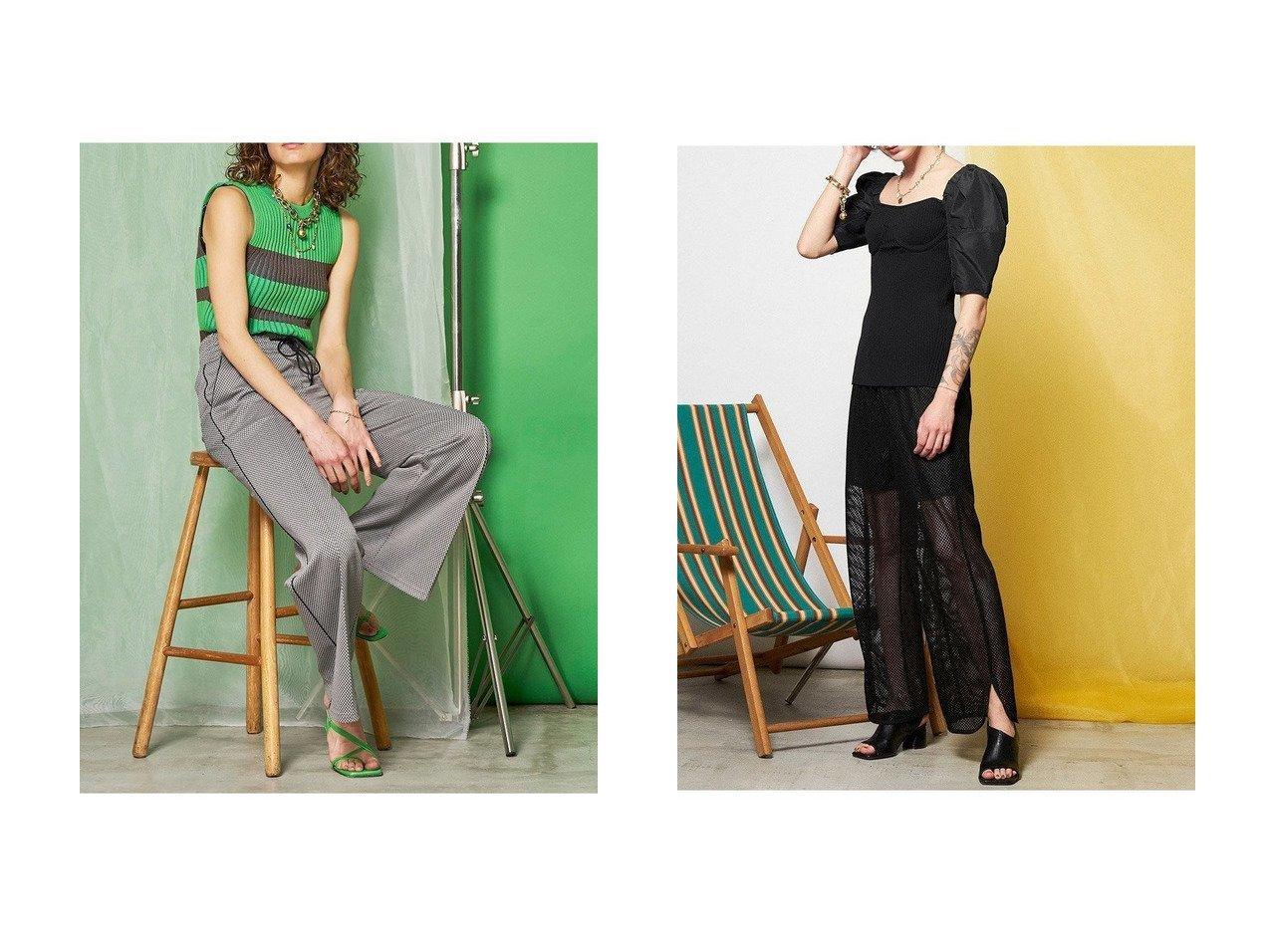 【MAISON SPECIAL/メゾンスペシャル】のアメスリニットトップス&パフスリーブニットトップス 【トップス・カットソー】おすすめ!人気、トレンド・レディースファッションの通販  おすすめで人気の流行・トレンド、ファッションの通販商品 インテリア・家具・メンズファッション・キッズファッション・レディースファッション・服の通販 founy(ファニー) https://founy.com/ ファッション Fashion レディースファッション WOMEN トップス・カットソー Tops/Tshirt ニット Knit Tops プルオーバー Pullover ガーリー シャンブレー スリーブ リブニット シンプル ストレッチ ボーダー  ID:crp329100000049285