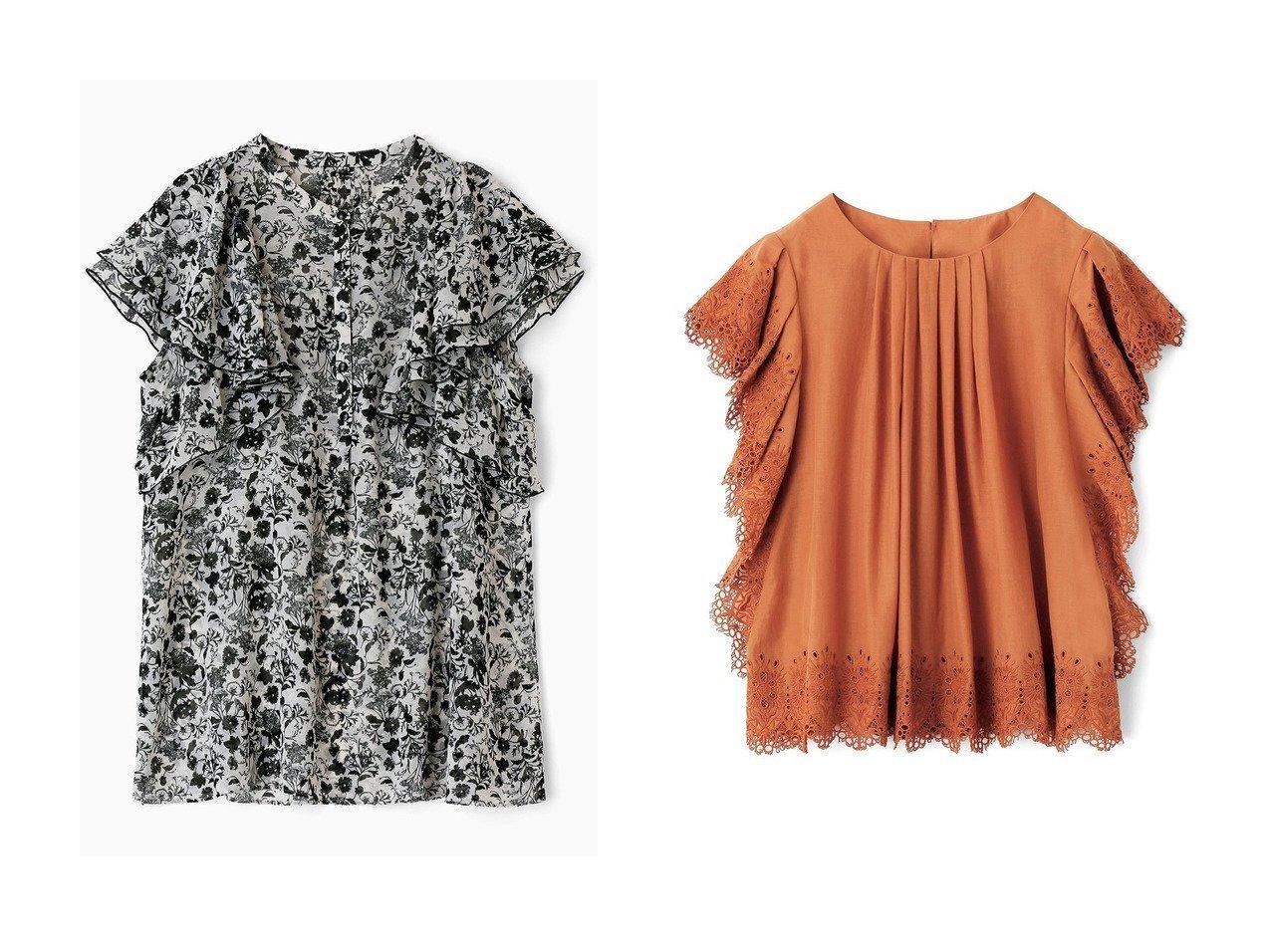 【ANAYI/アナイ】のフラワーエンブロイダリーブラウス&モノトーンフラワープリントラッフル ブラウス 【トップス・カットソー】おすすめ!人気、トレンド・レディースファッションの通販  おすすめで人気の流行・トレンド、ファッションの通販商品 インテリア・家具・メンズファッション・キッズファッション・レディースファッション・服の通販 founy(ファニー) https://founy.com/ ファッション Fashion レディースファッション WOMEN トップス・カットソー Tops/Tshirt キャミソール / ノースリーブ No Sleeves シャツ/ブラウス Shirts/Blouses 花柄・フラワープリント・モチーフ Flower Patterns スカラップ ノースリーブ フロント シフォン ショート スリーブ セットアップ フェミニン フラワー モノトーン ラッフル  ID:crp329100000049290