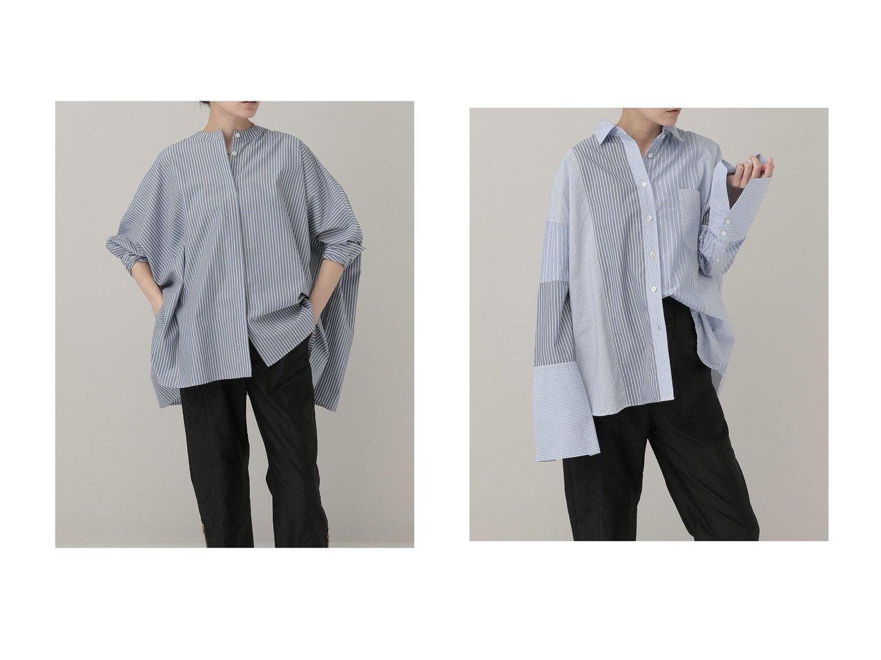 【Curensology/カレンソロジー】のストライプワイドシャツ&クレイジーパターンシャツ 【トップス・カットソー】おすすめ!人気、トレンド・レディースファッションの通販  おすすめで人気の流行・トレンド、ファッションの通販商品 インテリア・家具・メンズファッション・キッズファッション・レディースファッション・服の通販 founy(ファニー) https://founy.com/ ファッション Fashion レディースファッション WOMEN トップス・カットソー Tops/Tshirt シャツ/ブラウス Shirts/Blouses A/W・秋冬 AW・Autumn/Winter・FW・Fall-Winter インナー カフス ストライプ スリーブ ミックス リラックス ロング 羽織 なめらか トレンド ルーズ ワイド 定番 Standard  ID:crp329100000049294