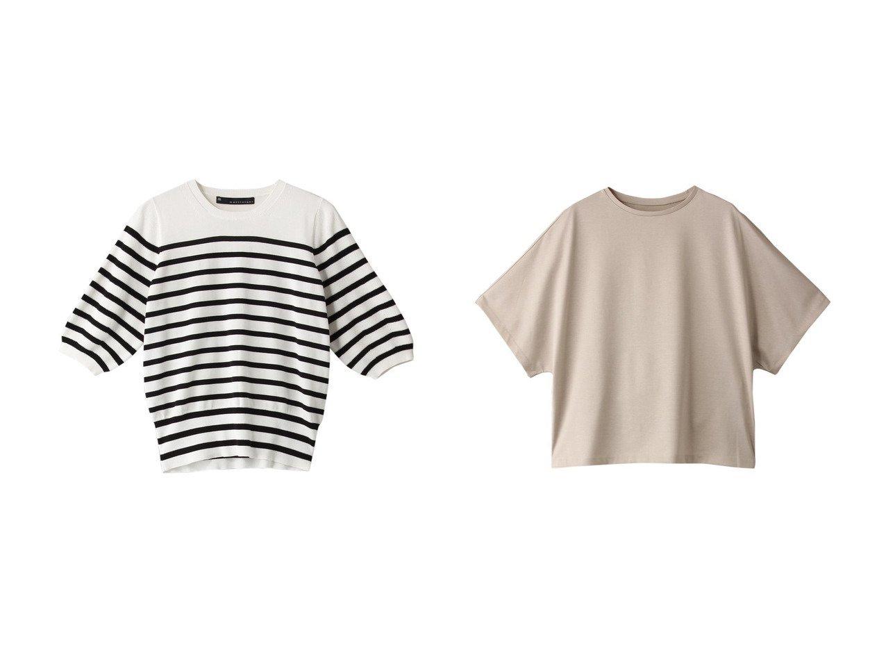 【martinique/マルティニーク】のクルーネックラグランTシャツ&袖切り替えクルーネックニットプルオーバー 【トップス・カットソー】おすすめ!人気、トレンド・レディースファッションの通販  おすすめで人気の流行・トレンド、ファッションの通販商品 インテリア・家具・メンズファッション・キッズファッション・レディースファッション・服の通販 founy(ファニー) https://founy.com/ ファッション Fashion レディースファッション WOMEN トップス・カットソー Tops/Tshirt ニット Knit Tops プルオーバー Pullover シャツ/ブラウス Shirts/Blouses ロング / Tシャツ T-Shirts カットソー Cut and Sewn シンプル 夏 Summer 畦 ショート スリーブ  ID:crp329100000049310