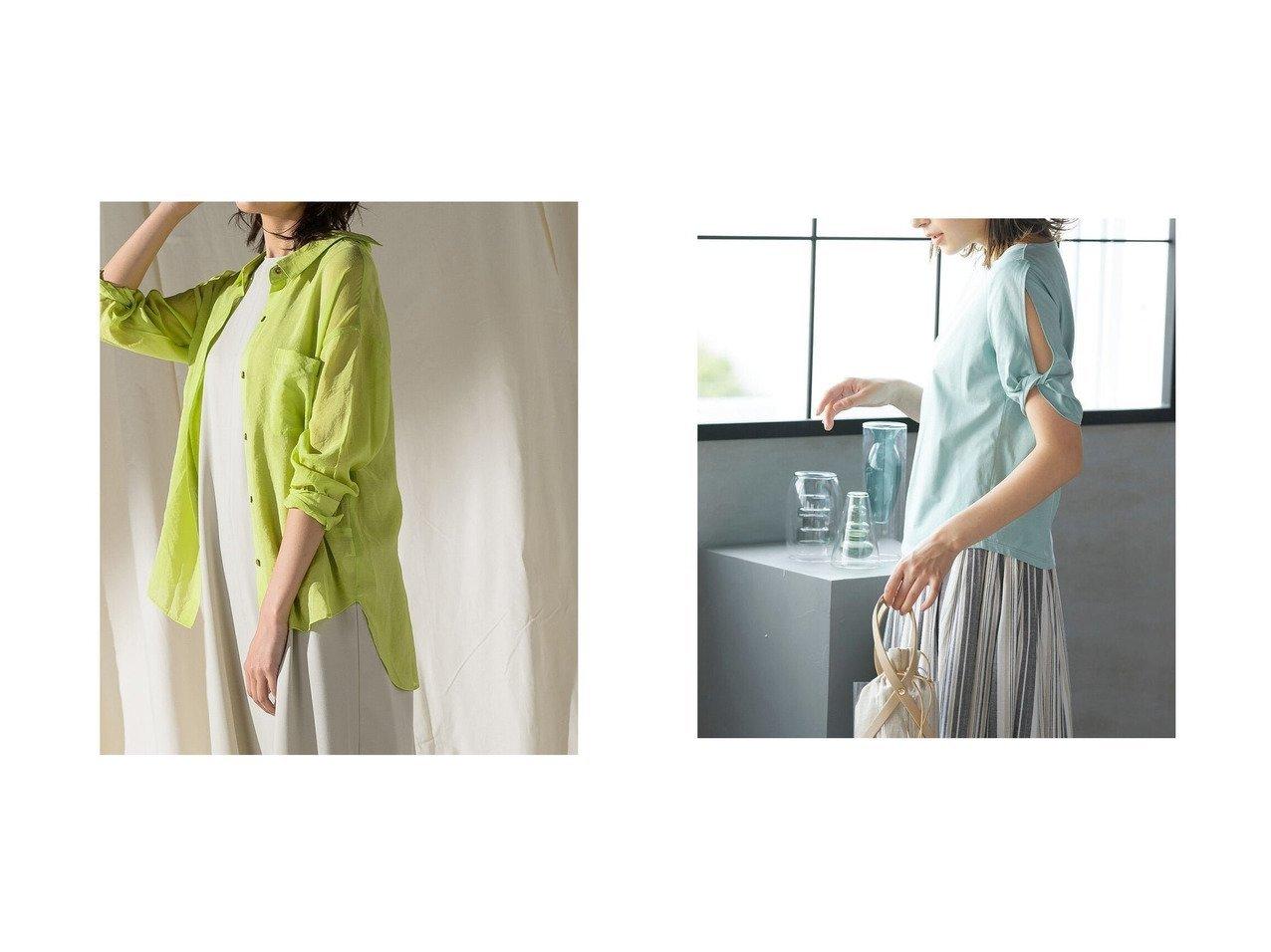 【MAYSON GREY/メイソングレイ】のシアー2WAYオープンカラーシャツ&【Ketty/ケティ】のツイストスリーブ半袖カットソー 【トップス・カットソー】おすすめ!人気、トレンド・レディースファッションの通販  おすすめで人気の流行・トレンド、ファッションの通販商品 インテリア・家具・メンズファッション・キッズファッション・レディースファッション・服の通販 founy(ファニー) https://founy.com/ ファッション Fashion レディースファッション WOMEN トップス・カットソー Tops/Tshirt カットソー Cut and Sewn シャツ/ブラウス Shirts/Blouses A/W・秋冬 AW・Autumn/Winter・FW・Fall-Winter S/S・春夏 SS・Spring/Summer おすすめ Recommend カットソー ショルダー スリーブ ツイスト デニム トレンド フィット プリント リラックス 半袖 夏 Summer 春 Spring |ID:crp329100000049334