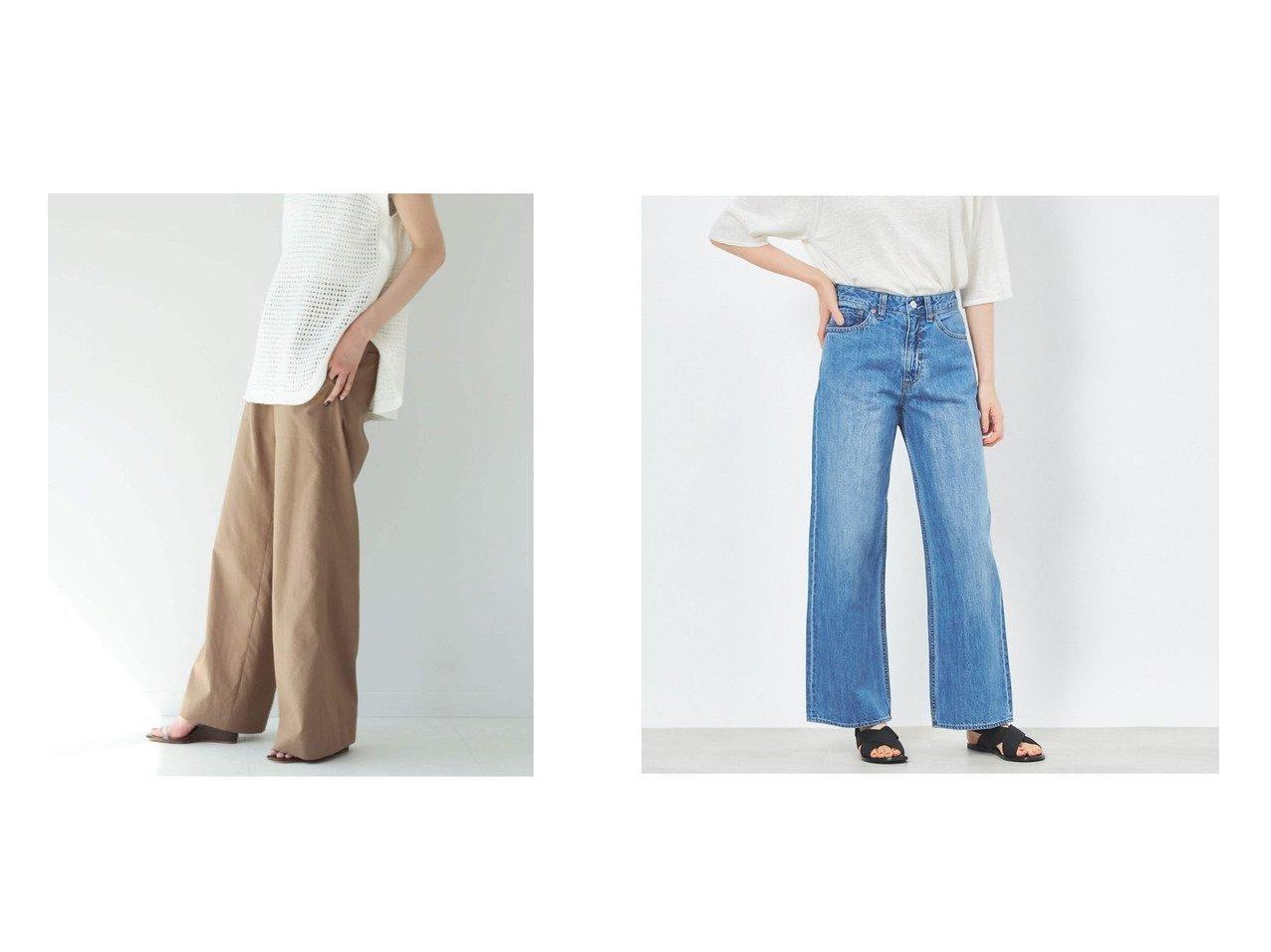 【collex/コレックス】のセミワイドデニムパンツ&【Plage/プラージュ】のタイプライターイージーパンツ 【パンツ】おすすめ!人気、トレンド・レディースファッションの通販 おすすめで人気の流行・トレンド、ファッションの通販商品 インテリア・家具・メンズファッション・キッズファッション・レディースファッション・服の通販 founy(ファニー) https://founy.com/ ファッション Fashion レディースファッション WOMEN パンツ Pants デニムパンツ Denim Pants NEW・新作・新着・新入荷 New Arrivals ジーンズ ストレート デニム バランス ユーズド ワイド 今季 夏 Summer 定番 Standard コンパクト スポーティ 2021年 2021 S/S・春夏 SS・Spring/Summer 2021春夏・S/S SS/Spring/Summer/2021 |ID:crp329100000049387