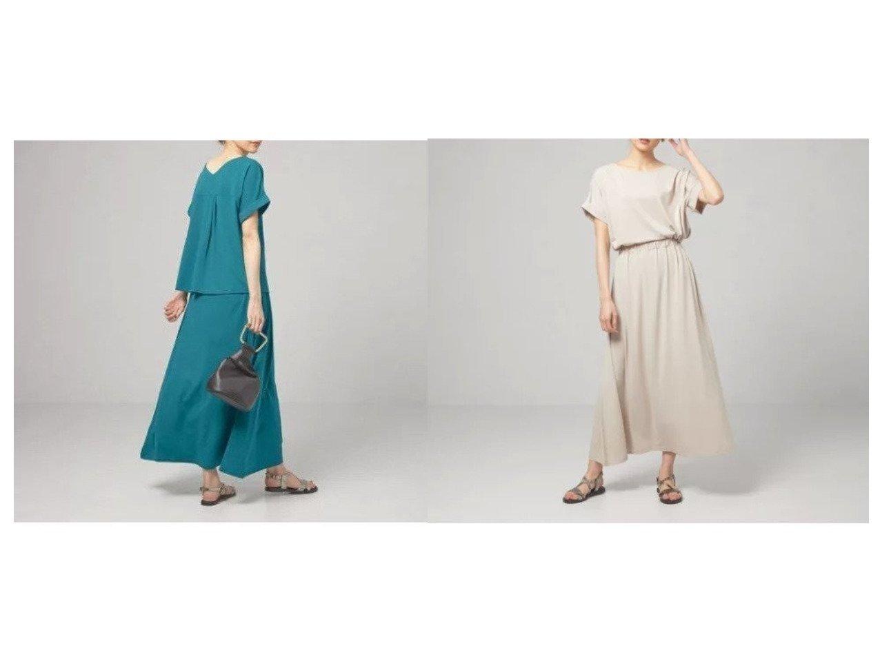 【THE STATION STORE / UNITED ARROWS/ザ ステーション ストア】の【WEB限定】 バックVカットソー&スカート セットアップ -手洗い可能- 【スカート】おすすめ!人気、トレンド・レディースファッションの通販 おすすめで人気の流行・トレンド、ファッションの通販商品 インテリア・家具・メンズファッション・キッズファッション・レディースファッション・服の通販 founy(ファニー) https://founy.com/ ファッション Fashion レディースファッション WOMEN セットアップ Setup スカート Skirt エレガント カットソー セットアップ フレア 半袖 ヨーク リラックス おすすめ Recommend |ID:crp329100000049402