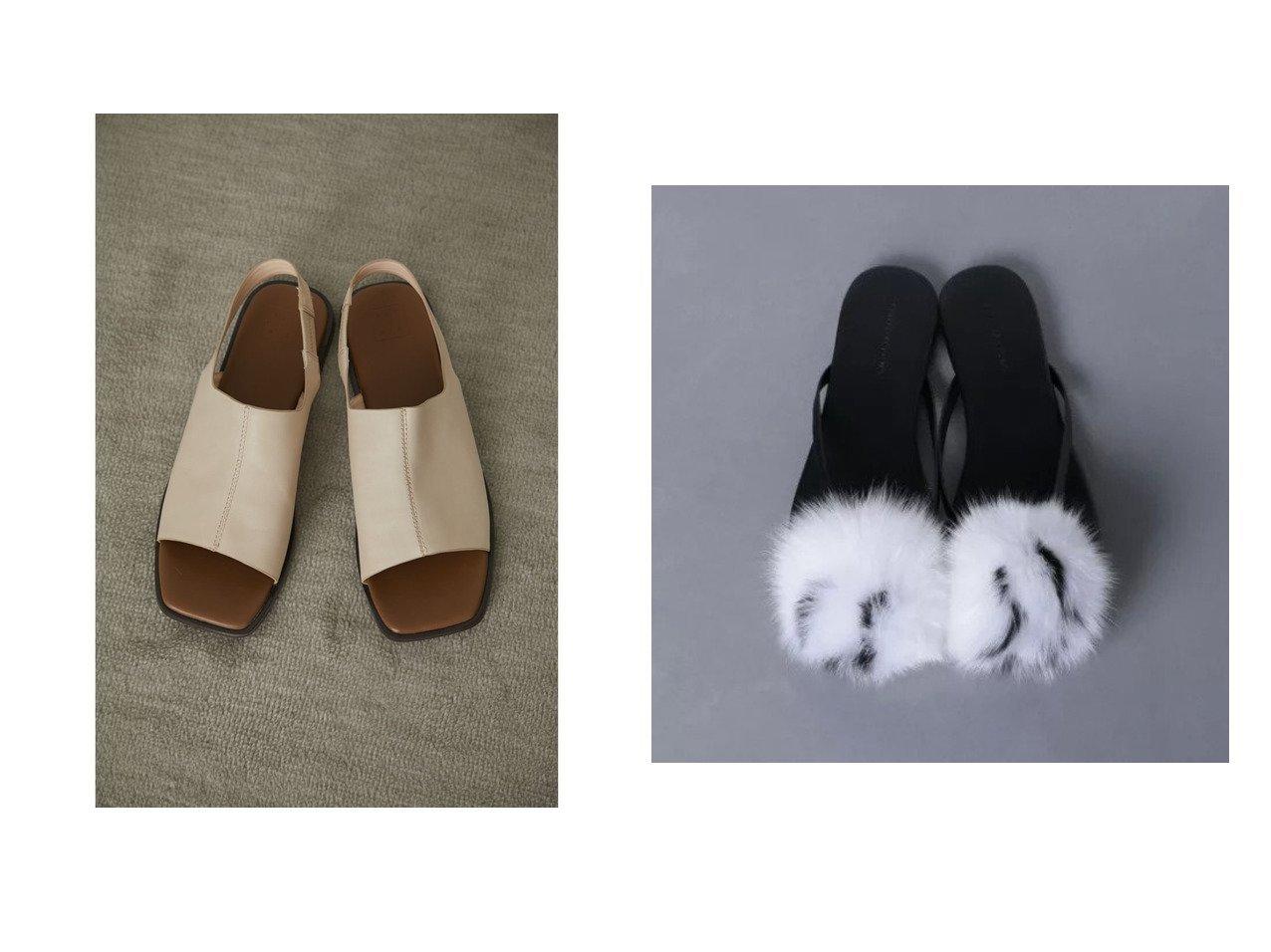 【RIM.ARK/リムアーク】のSquare toe covered sandal&【UNITED ARROWS/ユナイテッドアローズ】のUWFM ファー トング サンダル 【シューズ・靴】おすすめ!人気、トレンド・レディースファッションの通販 おすすめで人気の流行・トレンド、ファッションの通販商品 インテリア・家具・メンズファッション・キッズファッション・レディースファッション・服の通販 founy(ファニー) https://founy.com/ ファッション Fashion レディースファッション WOMEN アクセサリー エレガント サンダル シューズ 夏 Summer |ID:crp329100000049414