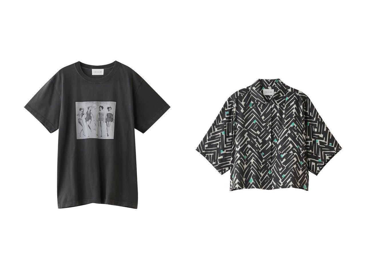 【ROSE BUD/ローズバッド】の【CREOLME】LIFE フォトプリントTシャツ&【CREOLME】ジオメトリックプリントシャツ 【トップス・カットソー】おすすめ!人気、トレンド・レディースファッションの通販 おすすめで人気の流行・トレンド、ファッションの通販商品 インテリア・家具・メンズファッション・キッズファッション・レディースファッション・服の通販 founy(ファニー) https://founy.com/ ファッション Fashion レディースファッション WOMEN トップス・カットソー Tops/Tshirt シャツ/ブラウス Shirts/Blouses ロング / Tシャツ T-Shirts カットソー Cut and Sewn クロップド サマー ショート シンプル スリーブ プリント カーディガン グラフィック ユーズド ロング 雑誌 |ID:crp329100000049503