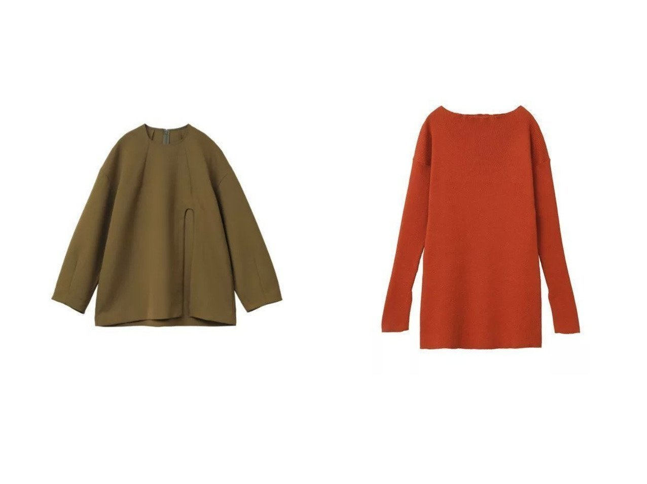 【CLANE/クラネ】のARCH CUT DOUBLE CLOTH TOPS&LOOSE SHAPE RIB KNIT TOPS 【トップス・カットソー】おすすめ!人気、トレンド・レディースファッションの通販 おすすめで人気の流行・トレンド、ファッションの通販商品 インテリア・家具・メンズファッション・キッズファッション・レディースファッション・服の通販 founy(ファニー) https://founy.com/ ファッション Fashion レディースファッション WOMEN トップス・カットソー Tops/Tshirt ニット Knit Tops 2021年 2021 2021-2022秋冬・A/W AW・Autumn/Winter・FW・Fall-Winter・2021-2022 A/W・秋冬 AW・Autumn/Winter・FW・Fall-Winter スリット ダブル ワンポイント おすすめ Recommend オレンジ シェイプ シンプル ストレッチ セーター フィット  ID:crp329100000049532