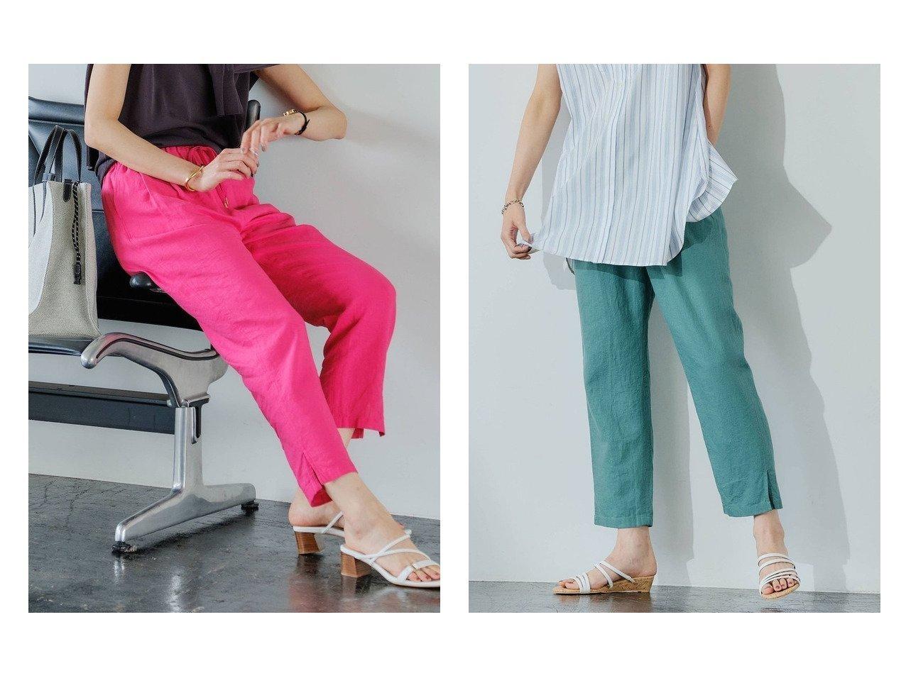 【green label relaxing / UNITED ARROWS/グリーンレーベル リラクシング / ユナイテッドアローズ】のVIS イージー テーパード パンツ 36・38サイズ 【パンツ】おすすめ!人気、トレンド・レディースファッションの通販 おすすめで人気の流行・トレンド、ファッションの通販商品 インテリア・家具・メンズファッション・キッズファッション・レディースファッション・服の通販 founy(ファニー) https://founy.com/ ファッション Fashion レディースファッション WOMEN パンツ Pants ギャザー クッション 今季 シンプル ジーンズ スリット テーパード メタル リラックス ルーズ NEW・新作・新着・新入荷 New Arrivals おすすめ Recommend お家時間・ステイホーム Home Time/Stay Home  ID:crp329100000049935