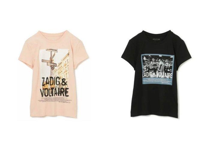 【ZADIG & VOLTAIRE/ザディグ エ ヴォルテール】のZOE PHOTOPRINT T-SHIRT COTON 【トップス・カットソー】おすすめ!人気トレンド・レディースファッション通販  おすすめ人気トレンドファッション通販アイテム 人気、トレンドファッション・服の通販 founy(ファニー)  ファッション Fashion レディースファッション WOMEN トップス・カットソー Tops/Tshirt シャツ/ブラウス Shirts/Blouses ロング / Tシャツ T-Shirts カットソー Cut and Sewn カットソー コンパクト プリント 半袖 洗える |ID:crp329100000050163