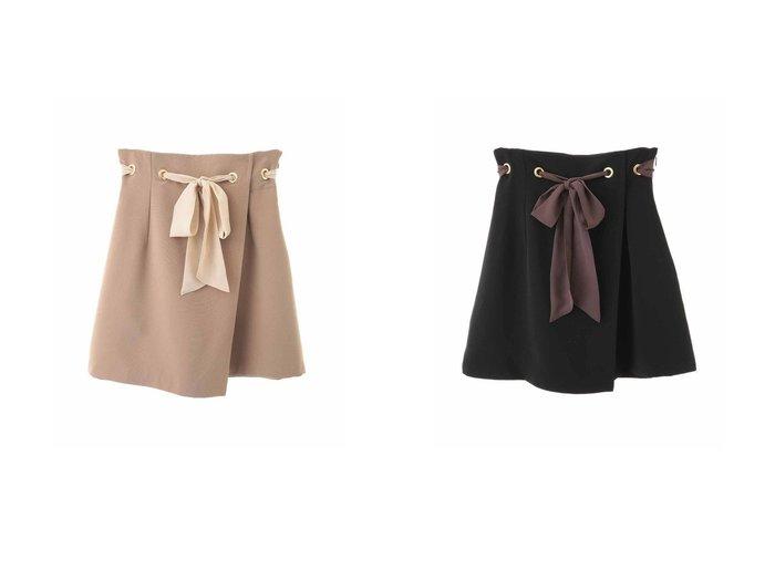 【31 Sons de mode/トランテアン ソン ドゥ モード】のラップリボンスカートパンツ 【パンツ】おすすめ!人気、トレンド・レディースファッションの通販   おすすめ人気トレンドファッション通販アイテム 人気、トレンドファッション・服の通販 founy(ファニー) ファッション Fashion レディースファッション WOMEN スカート Skirt 2021年 2021 2021春夏・S/S SS/Spring/Summer/2021 S/S・春夏 SS・Spring/Summer ショート ダウン リボン 夏 Summer 春 Spring  ID:crp329100000050257