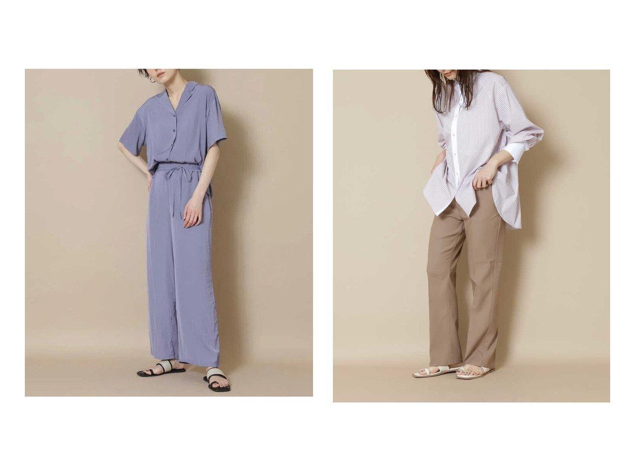 【N.Natural Beauty basic/エヌ ナチュラルビューティーベーシック】の【Wrangler】WRANCHER DRESS パンツ&パウダーサテンパンツ 【パンツ】おすすめ!人気、トレンド・レディースファッションの通販   おすすめで人気の流行・トレンド、ファッションの通販商品 インテリア・家具・メンズファッション・キッズファッション・レディースファッション・服の通販 founy(ファニー) https://founy.com/ ファッション Fashion レディースファッション WOMEN パンツ Pants カットソー シェイプ シンプル センター フレア エアリー サテン ストレート セットアップ パウダー フィット リボン リラックス ワイド |ID:crp329100000050269