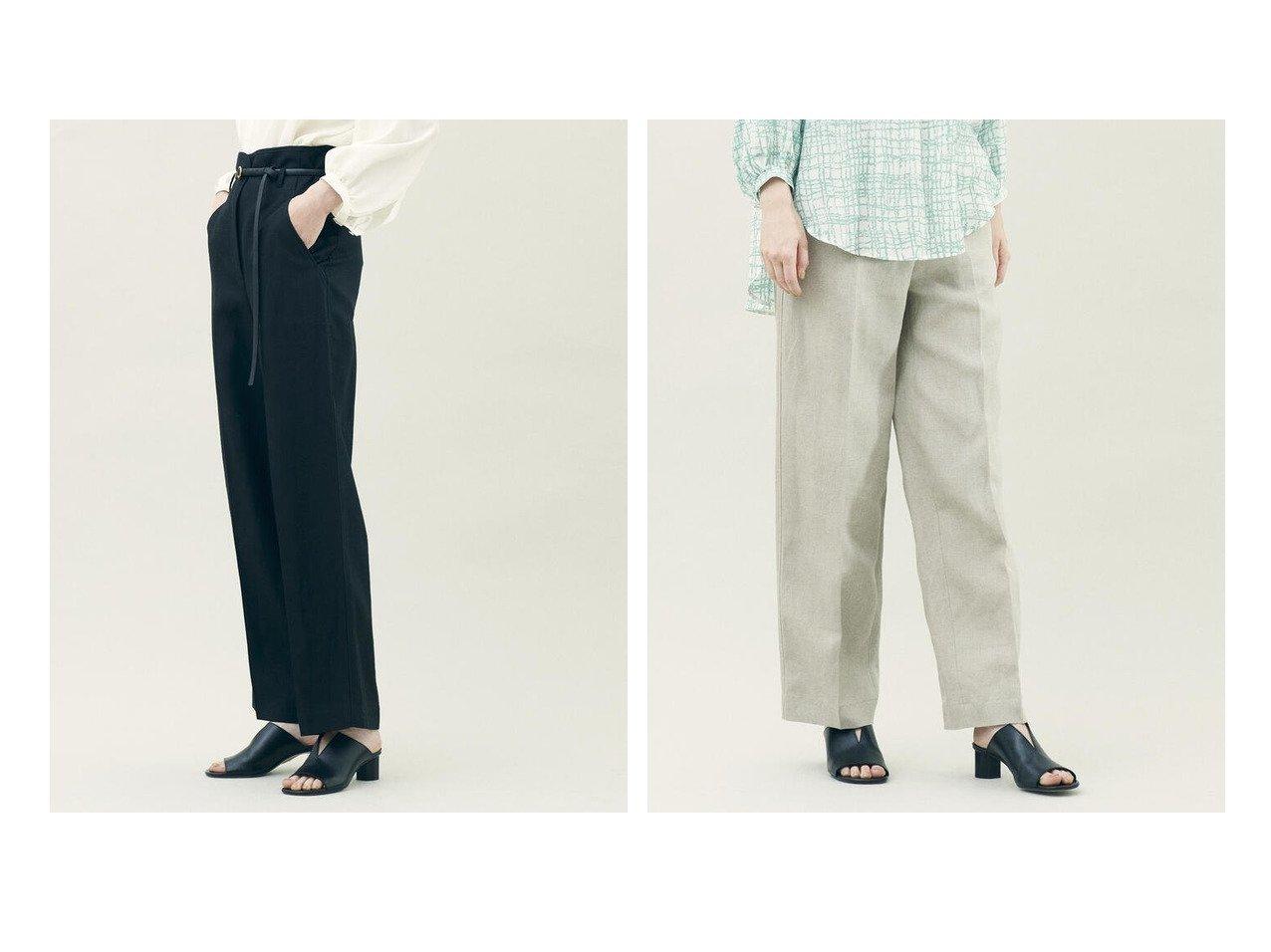 【DES PRES / TOMORROWLAND/デプレ】のプレーンリネン ハイウエストセミワイドパンツ 【パンツ】おすすめ!人気、トレンド・レディースファッションの通販   おすすめで人気の流行・トレンド、ファッションの通販商品 インテリア・家具・メンズファッション・キッズファッション・レディースファッション・服の通販 founy(ファニー) https://founy.com/ ファッション Fashion レディースファッション WOMEN パンツ Pants おすすめ Recommend バランス マニッシュ リネン |ID:crp329100000050443