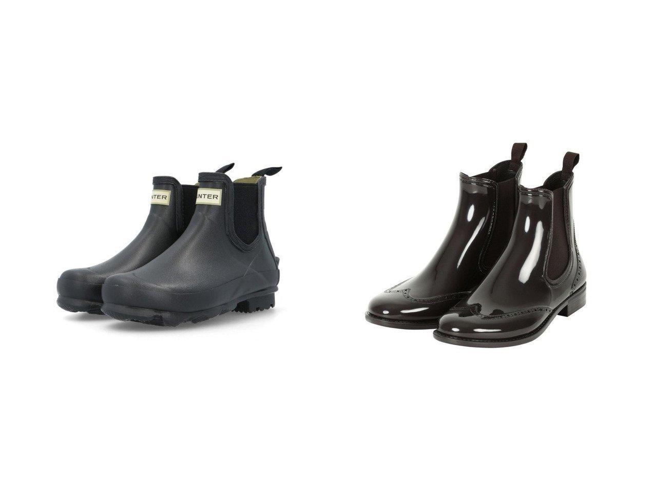 【TWW / Traditional Weatherwear/トラディショナル ウェザーウェア】のWING TIP SIDEGORE RAINBOOTS&【HUNTER/ハンター】のWOMENS NORRIS CHELSEA 【シューズ・靴】おすすめ!人気、トレンド・レディースファッションの通販   おすすめで人気の流行・トレンド、ファッションの通販商品 インテリア・家具・メンズファッション・キッズファッション・レディースファッション・服の通販 founy(ファニー) https://founy.com/ ファッション Fashion レディースファッション WOMEN シューズ おすすめ Recommend アウトドア 再入荷 Restock/Back in Stock/Re Arrival |ID:crp329100000050473