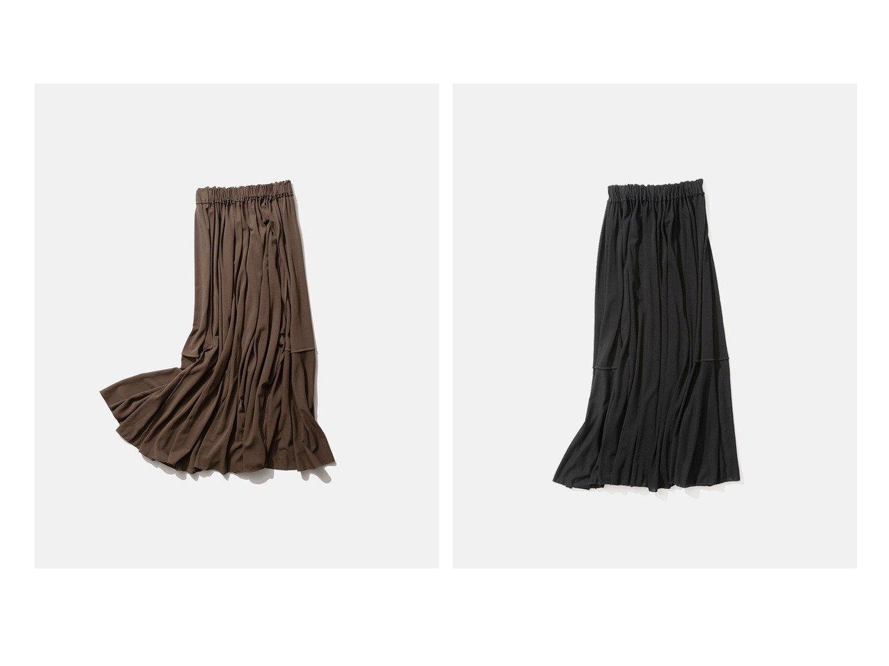 【ATON/エイトン】のFRESCA KANOKO ギャザースカート 【スカート】おすすめ!人気トレンド・レディースファッション通販 おすすめで人気の流行・トレンド、ファッションの通販商品 インテリア・家具・メンズファッション・キッズファッション・レディースファッション・服の通販 founy(ファニー) https://founy.com/ ファッション Fashion レディースファッション WOMEN スカート Skirt ギャザー 鹿の子 ジャージー ドレープ 送料無料 Free Shipping |ID:crp329100000050686