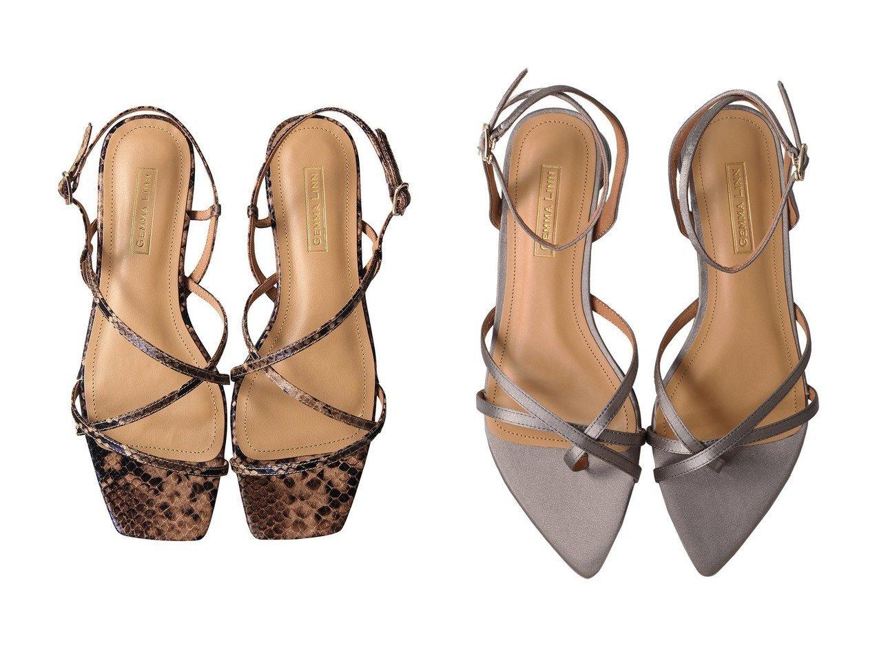 【Daniella & GEMMA/ダニエラ アンド ジェマ】のポインテッドトゥサテンストラップサンダル&【GEMMA LINN】ストラップフラットサンダル 【シューズ・靴】おすすめ!人気トレンド・レディースファッション通販 おすすめで人気の流行・トレンド、ファッションの通販商品 インテリア・家具・メンズファッション・キッズファッション・レディースファッション・服の通販 founy(ファニー) https://founy.com/ ファッション Fashion レディースファッション WOMEN サテン サマー サンダル フェミニン ラップ フラット リゾート 今季 再入荷 Restock/Back in Stock/Re Arrival  ID:crp329100000050700
