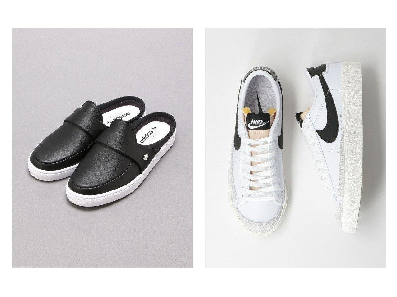 【adidas Originals/アディダス オリジナルス】のアディダスオリジナルス&【green label relaxing / UNITED ARROWS/グリーンレーベル リラクシング / ユナイテッドアローズ】のナイキ NIKE BLAZER LOW 77 ブレーザー スニーカー 【シューズ・靴】おすすめ!人気トレンド・レディースファッション通販 おすすめで人気の流行・トレンド、ファッションの通販商品 インテリア・家具・メンズファッション・キッズファッション・レディースファッション・服の通販 founy(ファニー) https://founy.com/ ファッション Fashion レディースファッション WOMEN サンダル シューズ シンプル スニーカー スポーツ スリッポン ベーシック ミックス ミュール クラシック  ID:crp329100000050708