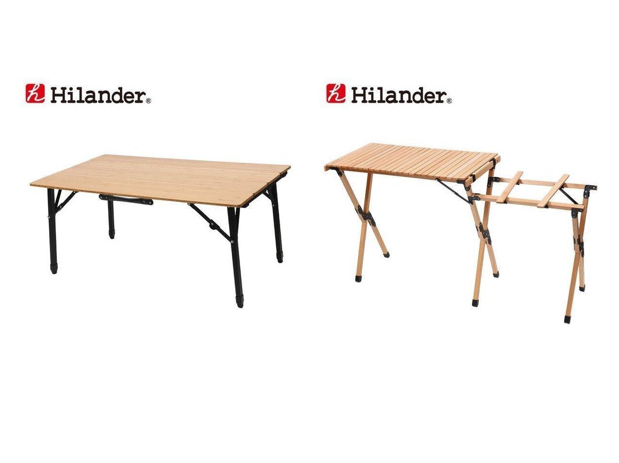 【Hilander/ハイランダー】のウッドキッチンテーブル&バンブー4つ折りテーブル 【アウトドアテーブル】おすすめ!人気キャンプ・アウトドア用品の通販 おすすめで人気の流行・トレンド、ファッションの通販商品 インテリア・家具・メンズファッション・キッズファッション・レディースファッション・服の通販 founy(ファニー) https://founy.com/ アウトドア コンパクト スタンド テーブル バンブー フレーム ホーム・キャンプ・アウトドア Home,Garden,Outdoor,Camping Gear キャンプ用品・アウトドア  Camping Gear & Outdoor Supplies チェア テーブル Camp Chairs, Camping Tables |ID:crp329100000050819