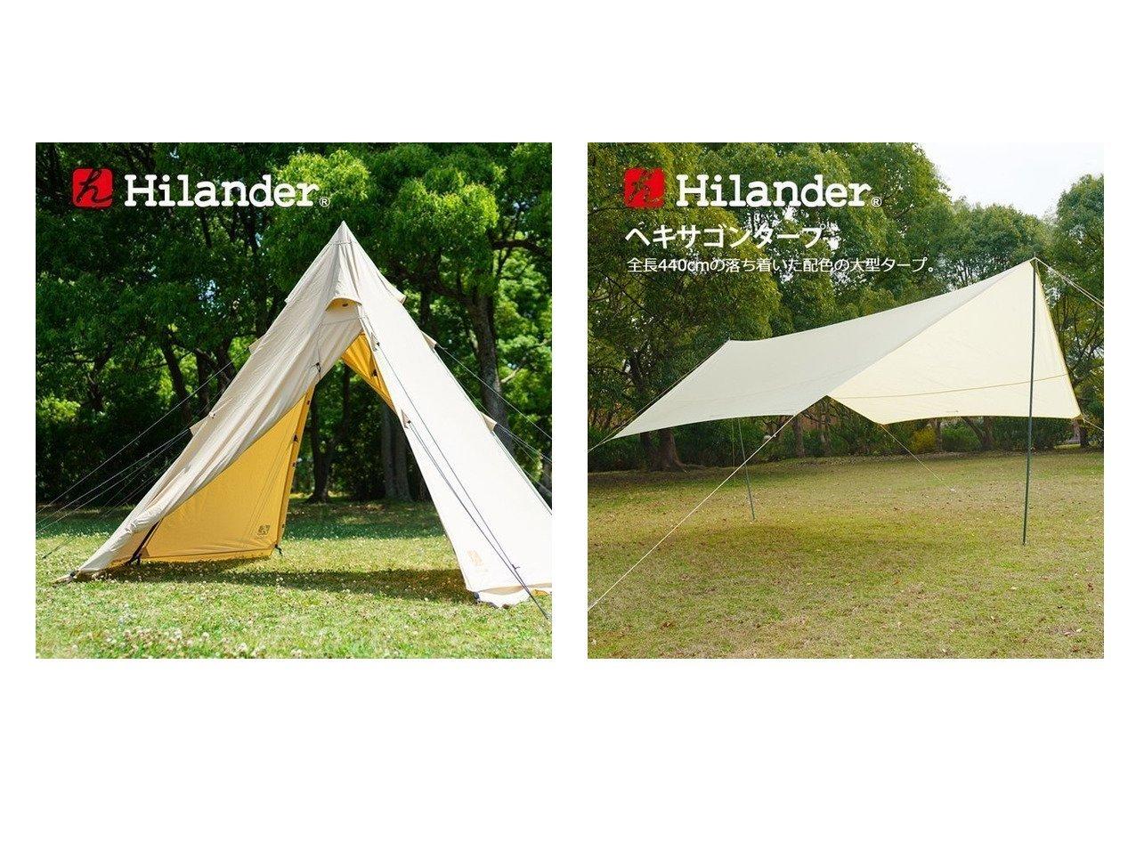 【Hilander/ハイランダー】のA型フレーム ネヴィス&ヘキサゴンタープ440 【テント】おすすめ!人気キャンプ・アウトドア用品の通販 おすすめで人気の流行・トレンド、ファッションの通販商品 インテリア・家具・メンズファッション・キッズファッション・レディースファッション・服の通販 founy(ファニー) https://founy.com/ ダブル フレーム ホーム・キャンプ・アウトドア Home,Garden,Outdoor,Camping Gear キャンプ用品・アウトドア  Camping Gear & Outdoor Supplies テント タープ Tents, Tarp  ID:crp329100000051162