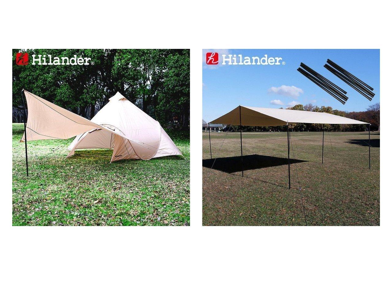 【Hilander/ハイランダー】のトラピゾイドタープ&レクタタープ440 ポリコットン+スチールポール230 2本セット(収納袋付き) 【テント】おすすめ!人気キャンプ・アウトドア用品の通販 おすすめで人気の流行・トレンド、ファッションの通販商品 インテリア・家具・メンズファッション・キッズファッション・レディースファッション・服の通販 founy(ファニー) https://founy.com/ インナー ホーム・キャンプ・アウトドア Home,Garden,Outdoor,Camping Gear キャンプ用品・アウトドア  Camping Gear & Outdoor Supplies テント タープ Tents, Tarp ホーム・キャンプ・アウトドア Home,Garden,Outdoor,Camping Gear キャンプ用品・アウトドア  Camping Gear & Outdoor Supplies ギアボックス 収納 Tool Boxes, Storage  ID:crp329100000051163