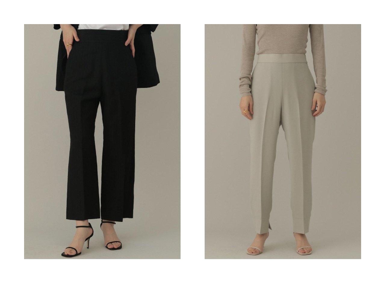 【Chaos/カオス】のGLウールリネンツイルPT&CRWクロステーパードPT 【パンツ】おすすめ!人気、トレンド・レディースファッションの通販 おすすめで人気の流行・トレンド、ファッションの通販商品 インテリア・家具・メンズファッション・キッズファッション・レディースファッション・服の通販 founy(ファニー) https://founy.com/ ファッション Fashion レディースファッション WOMEN パンツ Pants おすすめ Recommend クロップド ジャケット セットアップ リネン 人気 ジョーゼット  ID:crp329100000051188