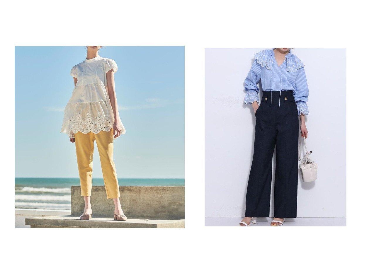 【Mystrada/マイストラーダ】の【生産】マリンワイドパンツ&【Noela/ノエラ】のハイウエストパンツ 【パンツ】おすすめ!人気、トレンド・レディースファッションの通販 おすすめで人気の流行・トレンド、ファッションの通販商品 インテリア・家具・メンズファッション・キッズファッション・レディースファッション・服の通販 founy(ファニー) https://founy.com/ ファッション Fashion レディースファッション WOMEN パンツ Pants おすすめ Recommend チュニック トレンド 夏 Summer メタル ワイド  ID:crp329100000051203