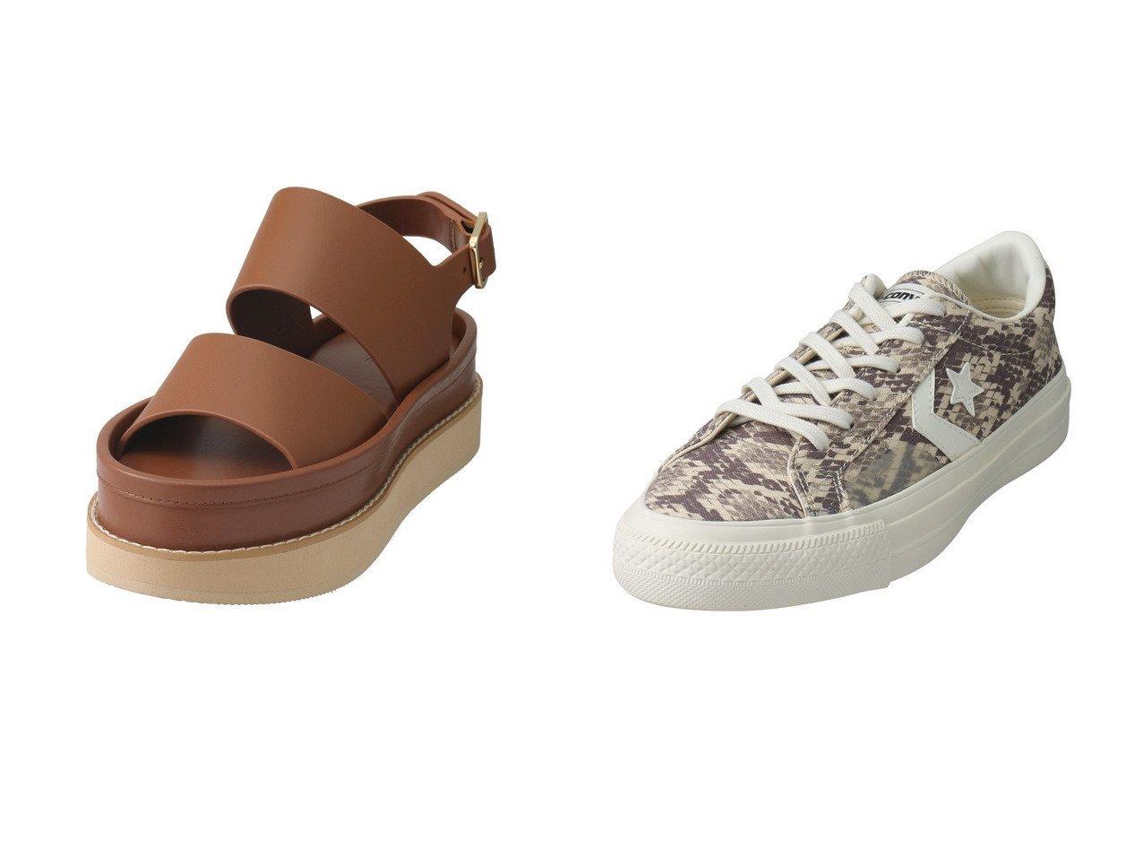 【CLANE/クラネ】のサンダル&【CONVERSE/コンバース】のプロライド SK SNK OX 【シューズ・靴】おすすめ!人気、トレンド・レディースファッションの通販 おすすめで人気の流行・トレンド、ファッションの通販商品 インテリア・家具・メンズファッション・キッズファッション・レディースファッション・服の通販 founy(ファニー) https://founy.com/ ファッション Fashion レディースファッション WOMEN キャンバス シューズ スタンダード スニーカー プリント インソール サンダル シンプル ラップ 厚底 |ID:crp329100000051242