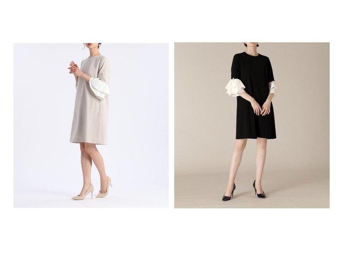 【ef-de/エフデ】の《M Maglie le cassetto》フリルスリーブドレス 【ワンピース・ドレス】おすすめ!人気、トレンド・レディースファッションの通販 おすすめ人気トレンドファッション通販アイテム インテリア・キッズ・メンズ・レディースファッション・服の通販 founy(ファニー) https://founy.com/ ファッション Fashion レディースファッション WOMEN ワンピース Dress ドレス Party Dresses おすすめ Recommend アクセサリー オケージョン ダブル ドレス ビジュー フリル ボックス ポケット |ID:crp329100000051305