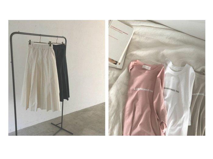 【marjour/マージュール】のボリューミープリーツスカート VOLUMY PLEATS SKIRT&ハーフスリーブプリントTEE HALF SLEEVE PRINT TEE おすすめ!人気、トレンド・レディースファッションの通販   おすすめ人気トレンドファッション通販アイテム 人気、トレンドファッション・服の通販 founy(ファニー) ファッション Fashion レディースファッション WOMEN スカート Skirt プリーツスカート Pleated Skirts トップス・カットソー Tops/Tshirt おすすめ Recommend サンダル ジャケット スニーカー プリント プリーツ ベーシック ボーダー 冬 Winter 夏 Summer 秋 Autumn/Fall バランス マニッシュ |ID:crp329100000051339
