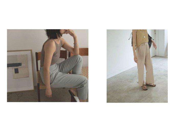 【marjour/マージュール】のセンタープレスパンツ CENTER PLESS PANTS&ストレッチテーパードパンツ STRETCH TAPERED PANTS おすすめ!人気、トレンド・レディースファッションの通販   おすすめ人気トレンドファッション通販アイテム インテリア・キッズ・メンズ・レディースファッション・服の通販 founy(ファニー) https://founy.com/ ファッション Fashion レディースファッション WOMEN パンツ Pants おすすめ Recommend カットソー ストレッチ バランス スウェット センター チュニック トレンド フレア ベーシック ワイド |ID:crp329100000051341