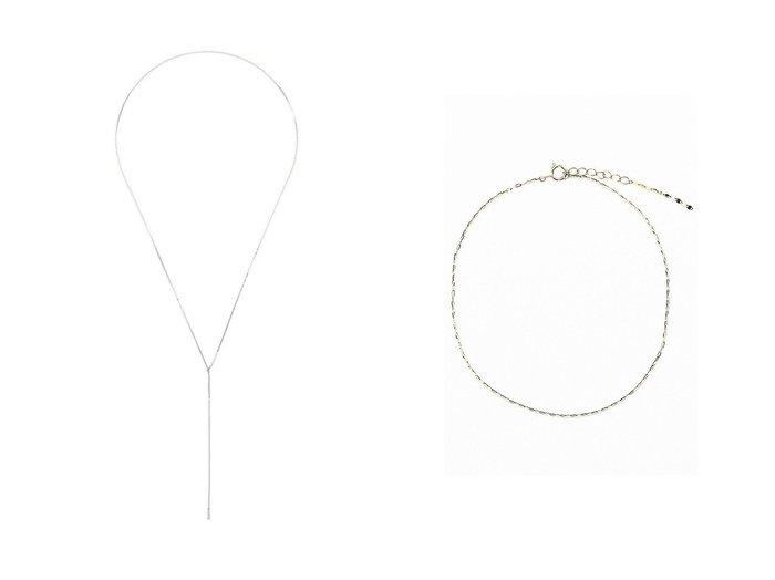 【les bonbon/ルボンボン】のswing アンクレット&【Chaos/カオス】のSASKIA Dフリンジネックレス おすすめ!人気トレンド・レディースファッション通販  おすすめ人気トレンドファッション通販アイテム 人気、トレンドファッション・服の通販 founy(ファニー) ファッション Fashion レディースファッション WOMEN ジュエリー Jewelry ネックレス Necklaces 2021年 2021 2021-2022秋冬・A/W AW・Autumn/Winter・FW・Fall-Winter・2021-2022 A/W・秋冬 AW・Autumn/Winter・FW・Fall-Winter カッティング サンダル スニーカー スポーツ チェーン バランス ジュエリー ネックレス 定番 Standard |ID:crp329100000051654