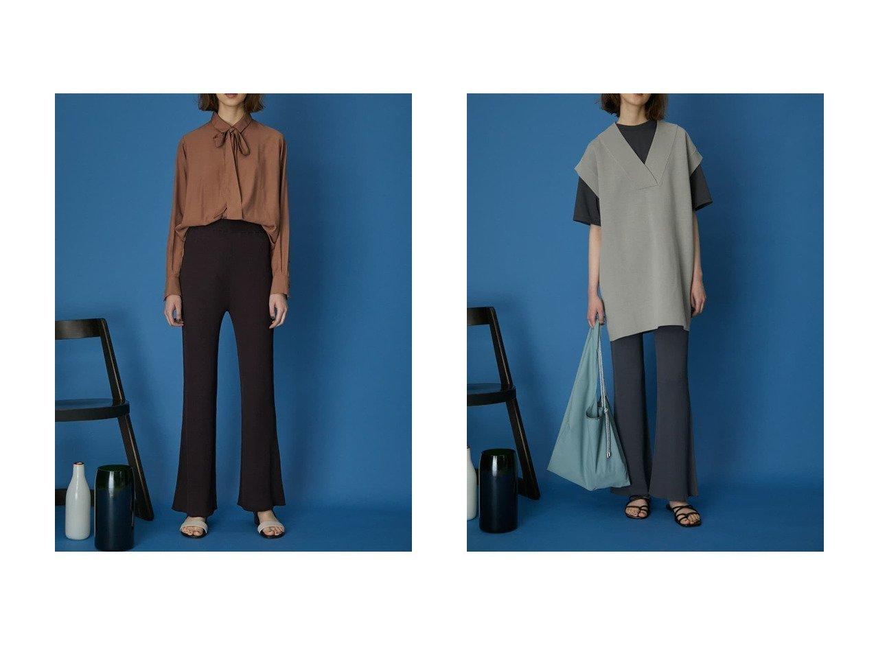 【RIM.ARK/リムアーク】のパンツ 【パンツ】おすすめ!人気、トレンド・レディースファッションの通販   おすすめで人気の流行・トレンド、ファッションの通販商品 インテリア・家具・メンズファッション・キッズファッション・レディースファッション・服の通販 founy(ファニー) https://founy.com/ ファッション Fashion レディースファッション WOMEN パンツ Pants バランス フレア リラックス  ID:crp329100000052079