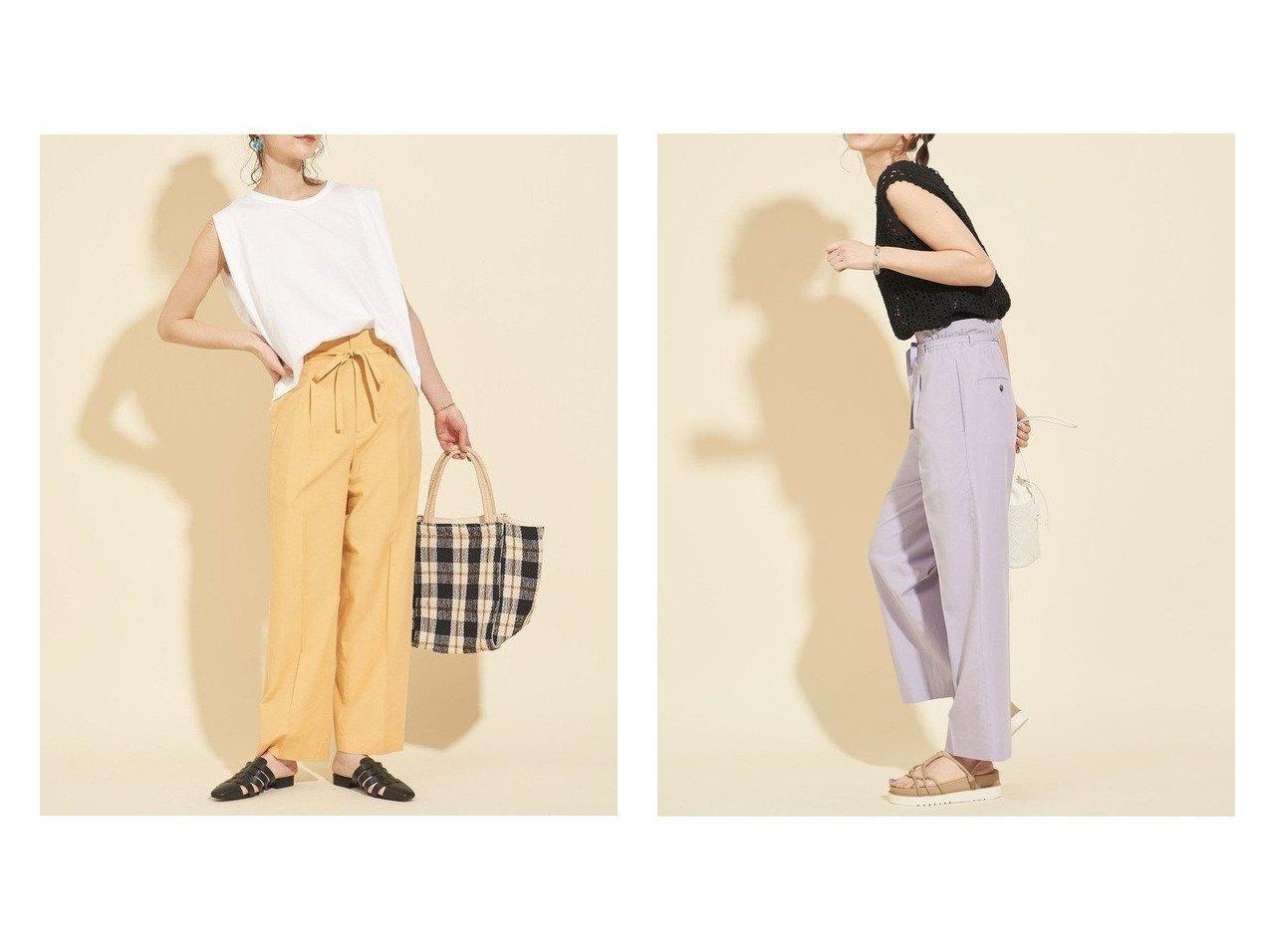 【BEAUTY&YOUTH / UNITED ARROWS/ビューティ&ユース ユナイテッドアローズ】のBY ウエストゴムイージーベルトパンツ -ウォッシャブル- 【パンツ】おすすめ!人気、トレンド・レディースファッションの通販   おすすめで人気の流行・トレンド、ファッションの通販商品 インテリア・家具・メンズファッション・キッズファッション・レディースファッション・服の通販 founy(ファニー) https://founy.com/ ファッション Fashion レディースファッション WOMEN パンツ Pants ベルト Belts ウォッシャブル 春 Spring カットソー ギャザー ジーンズ センター 定番 Standard ノースリーブ フェミニン フロント プリーツ ボトム S/S・春夏 SS・Spring/Summer NEW・新作・新着・新入荷 New Arrivals 夏 Summer  ID:crp329100000052094