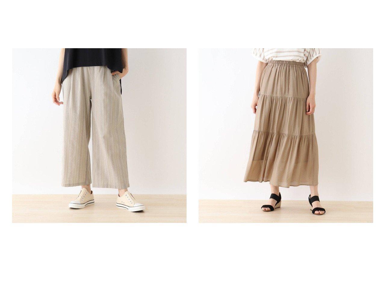 【SHOO LA RUE/シューラルー】のリネン風ストライプワイドパンツ&オーガンジーティアードスカート 【プチプライス・低価格】おすすめ!人気トレンド・レディースファッション通販 おすすめで人気の流行・トレンド、ファッションの通販商品 インテリア・家具・メンズファッション・キッズファッション・レディースファッション・服の通販 founy(ファニー) https://founy.com/ ファッション Fashion レディースファッション WOMEN パンツ Pants スカート Skirt ティアードスカート Tiered Skirts 2021年 2021 2021春夏・S/S SS/Spring/Summer/2021 S/S・春夏 SS・Spring/Summer カラフル シンプル ストライプ ポケット リネン ワイド 夏 Summer 春 Spring |ID:crp329100000052104