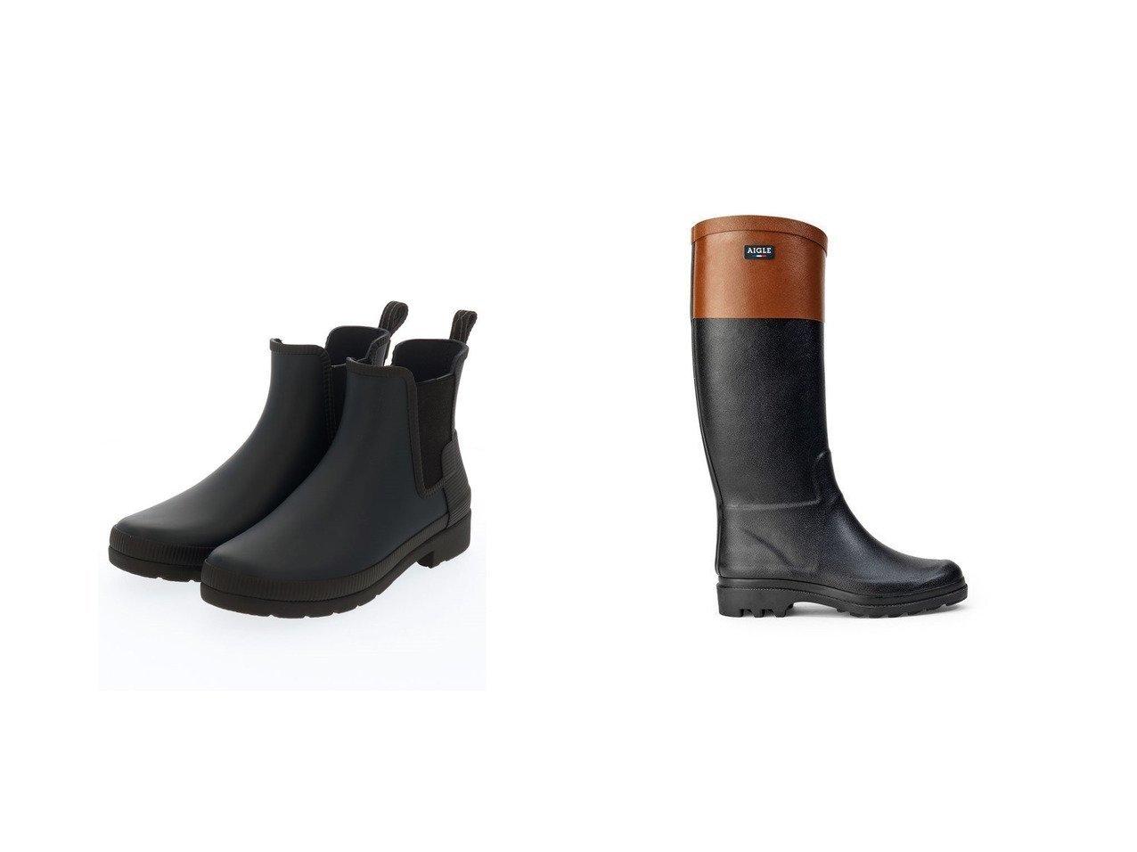 【AIGLE/エーグル】のエイグランティーヌ・カラーブロック&【HUNTER/ハンター】の【レディース】リファインドチェルシー テクスチャーブロックブーツ 【シューズ・靴】おすすめ!人気、トレンド・レディースファッションの通販   おすすめで人気の流行・トレンド、ファッションの通販商品 インテリア・家具・メンズファッション・キッズファッション・レディースファッション・服の通販 founy(ファニー) https://founy.com/ ファッション Fashion レディースファッション WOMEN S/S・春夏 SS・Spring/Summer シューズ ブロック マニッシュ モチーフ ラバー 再入荷 Restock/Back in Stock/Re Arrival 夏 Summer 定番 Standard 春 Spring アウトドア ショート  ID:crp329100000052231