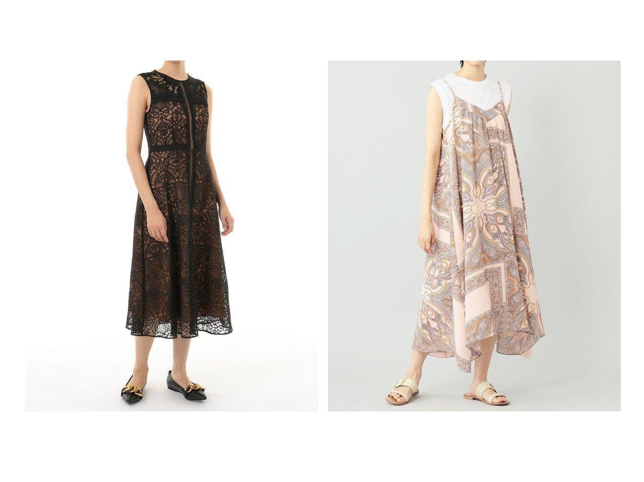 【GRACE CONTINENTAL/グレース コンチネンタル】のレースコンビラインドレス&キャミプリントワンピース 【ワンピース・ドレス】おすすめ!人気、トレンド・レディースファッションの通販   おすすめで人気の流行・トレンド、ファッションの通販商品 インテリア・家具・メンズファッション・キッズファッション・レディースファッション・服の通販 founy(ファニー) https://founy.com/ ファッション Fashion レディースファッション WOMEN ワンピース Dress ドレス Party Dresses 送料無料 Free Shipping イレギュラーヘム カーディガン ギャザー サマー ジョーゼット ドレス リボン ルーズ 再入荷 Restock/Back in Stock/Re Arrival |ID:crp329100000052278