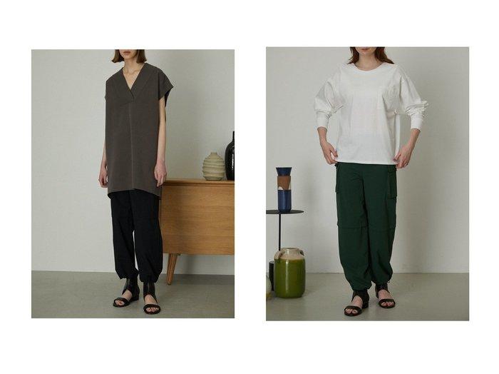 【RIM.ARK/リムアーク】のOversize knit tops&Back open pad in tee 【トップス・カットソー】おすすめ!人気、トレンド・レディースファッションの通販   おすすめ人気トレンドファッション通販アイテム 人気、トレンドファッション・服の通販 founy(ファニー) ファッション Fashion レディースファッション WOMEN トップス・カットソー Tops/Tshirt シャツ/ブラウス Shirts/Blouses ロング / Tシャツ T-Shirts カットソー Cut and Sewn ニット Knit Tops プルオーバー Pullover カットソー シルケット スリーブ ポケット ロング おすすめ Recommend シンプル ダブル フェイス ベスト  ID:crp329100000052303