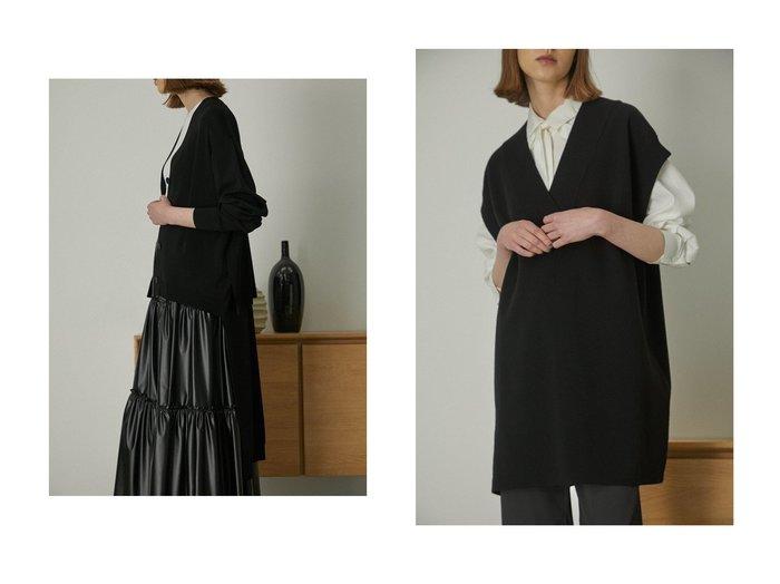 【RIM.ARK/リムアーク】のOversize knit tops&ニットカーディガン 【トップス・カットソー】おすすめ!人気、トレンド・レディースファッションの通販   おすすめ人気トレンドファッション通販アイテム 人気、トレンドファッション・服の通販 founy(ファニー) ファッション Fashion レディースファッション WOMEN トップス・カットソー Tops/Tshirt ニット Knit Tops プルオーバー Pullover カーディガン Cardigans おすすめ Recommend シンプル ダブル フェイス ベスト カーディガン タンク ロング  ID:crp329100000052304
