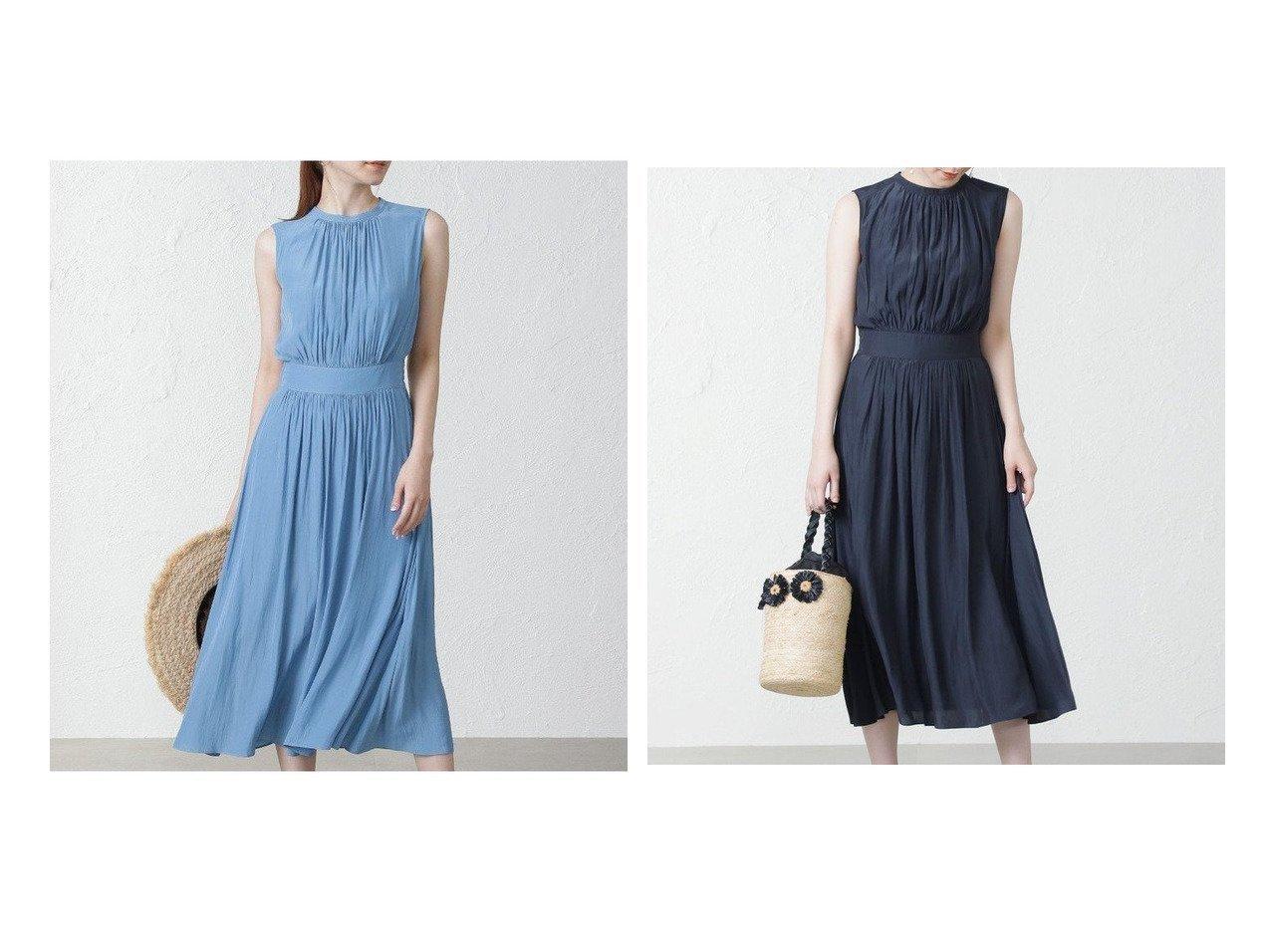 【EPOCA THE SHOP/エポカ ザ ショップ】のタンブラーノースリーブドレス おすすめ!人気トレンド・レディースファッション通販 おすすめで人気の流行・トレンド、ファッションの通販商品 インテリア・家具・メンズファッション・キッズファッション・レディースファッション・服の通販 founy(ファニー) https://founy.com/ ファッション Fashion レディースファッション WOMEN ワンピース Dress ドレス Party Dresses インナー ギャザー タンブラー ブラウジング リュクス |ID:crp329100000052479