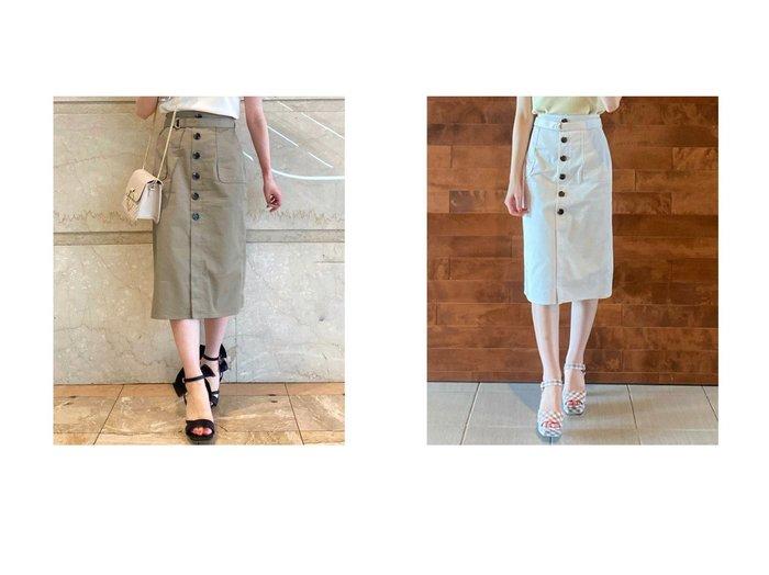 【31 Sons de mode/トランテアン ソン ドゥ モード】のフロント釦タイトスカート 【スカート】おすすめ!人気トレンド・レディースファッション通販 おすすめ人気トレンドファッション通販アイテム 人気、トレンドファッション・服の通販 founy(ファニー) ファッション Fashion レディースファッション WOMEN スカート Skirt 2021年 2021 2021春夏・S/S SS/Spring/Summer/2021 S/S・春夏 SS・Spring/Summer タイトスカート フロント 夏 Summer 春 Spring  ID:crp329100000052530