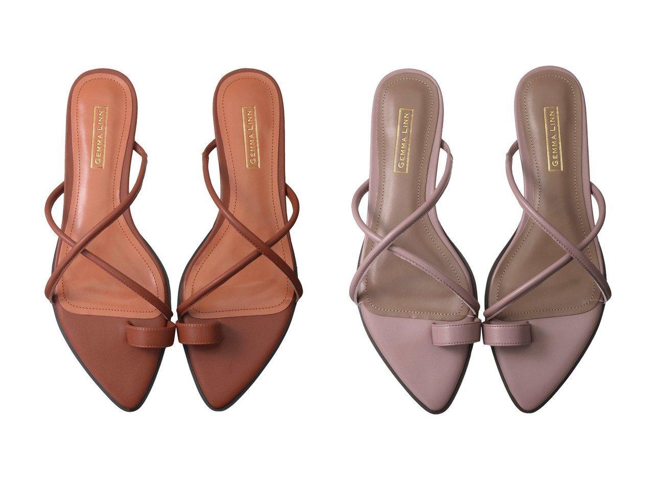 【Daniella & GEMMA/ダニエラ アンド ジェマ】のポインテッドクロスストラップサンダル 【シューズ・靴】おすすめ!人気、トレンド・レディースファッションの通販 おすすめで人気の流行・トレンド、ファッションの通販商品 インテリア・家具・メンズファッション・キッズファッション・レディースファッション・服の通販 founy(ファニー) https://founy.com/ ファッション Fashion レディースファッション WOMEN サマー サンダル ラップ  ID:crp329100000052531