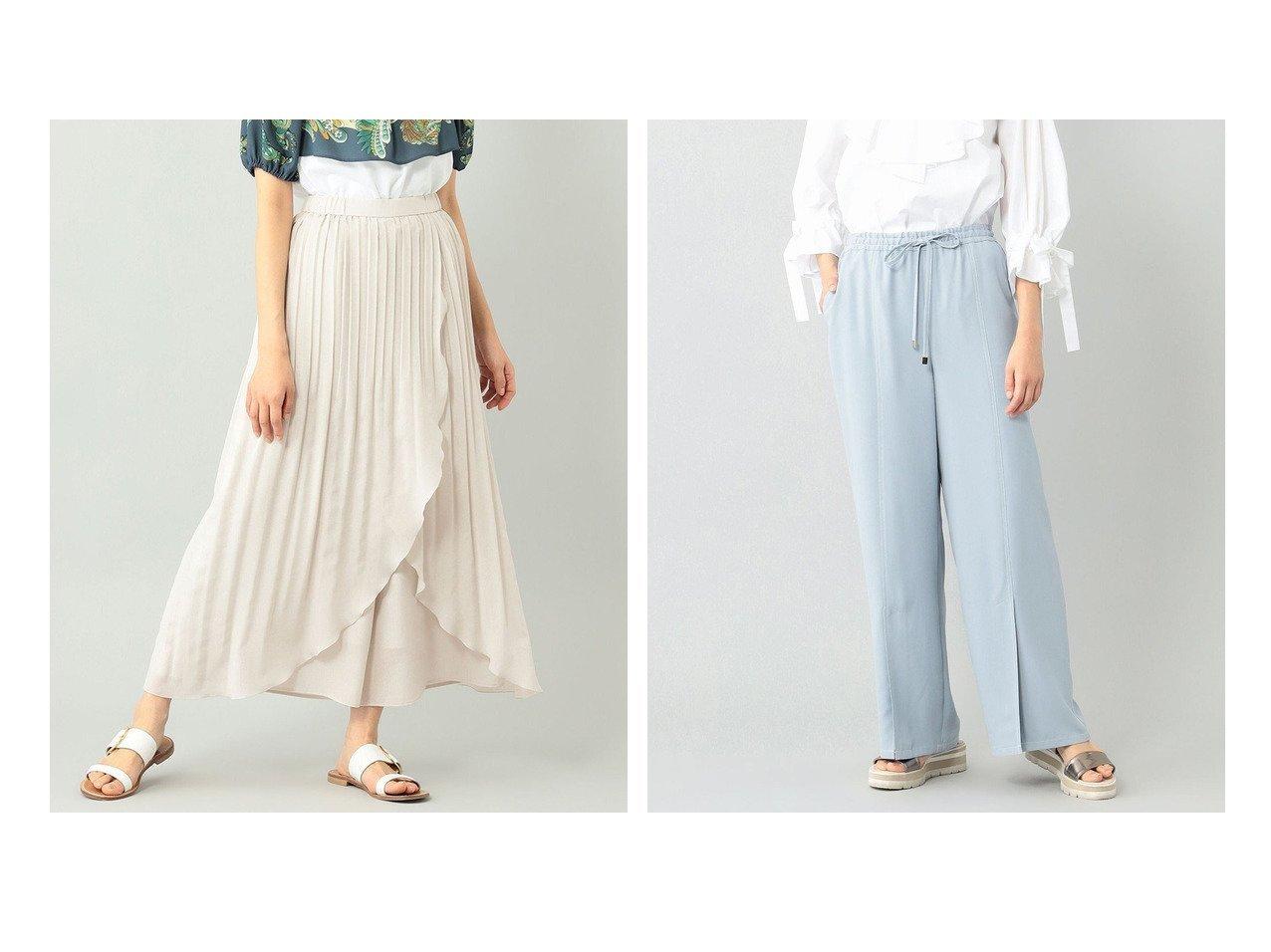 【GRACE CONTINENTAL/グレース コンチネンタル】のセミワイドイージーパンツ&ラップワッシャーパンツ 【パンツ】おすすめ!人気、トレンド・レディースファッションの通販 おすすめで人気の流行・トレンド、ファッションの通販商品 インテリア・家具・メンズファッション・キッズファッション・レディースファッション・服の通販 founy(ファニー) https://founy.com/ ファッション Fashion レディースファッション WOMEN パンツ Pants 送料無料 Free Shipping シフォン フィット フェミニン ラップ ワイド 再入荷 Restock/Back in Stock/Re Arrival 定番 Standard |ID:crp329100000052764