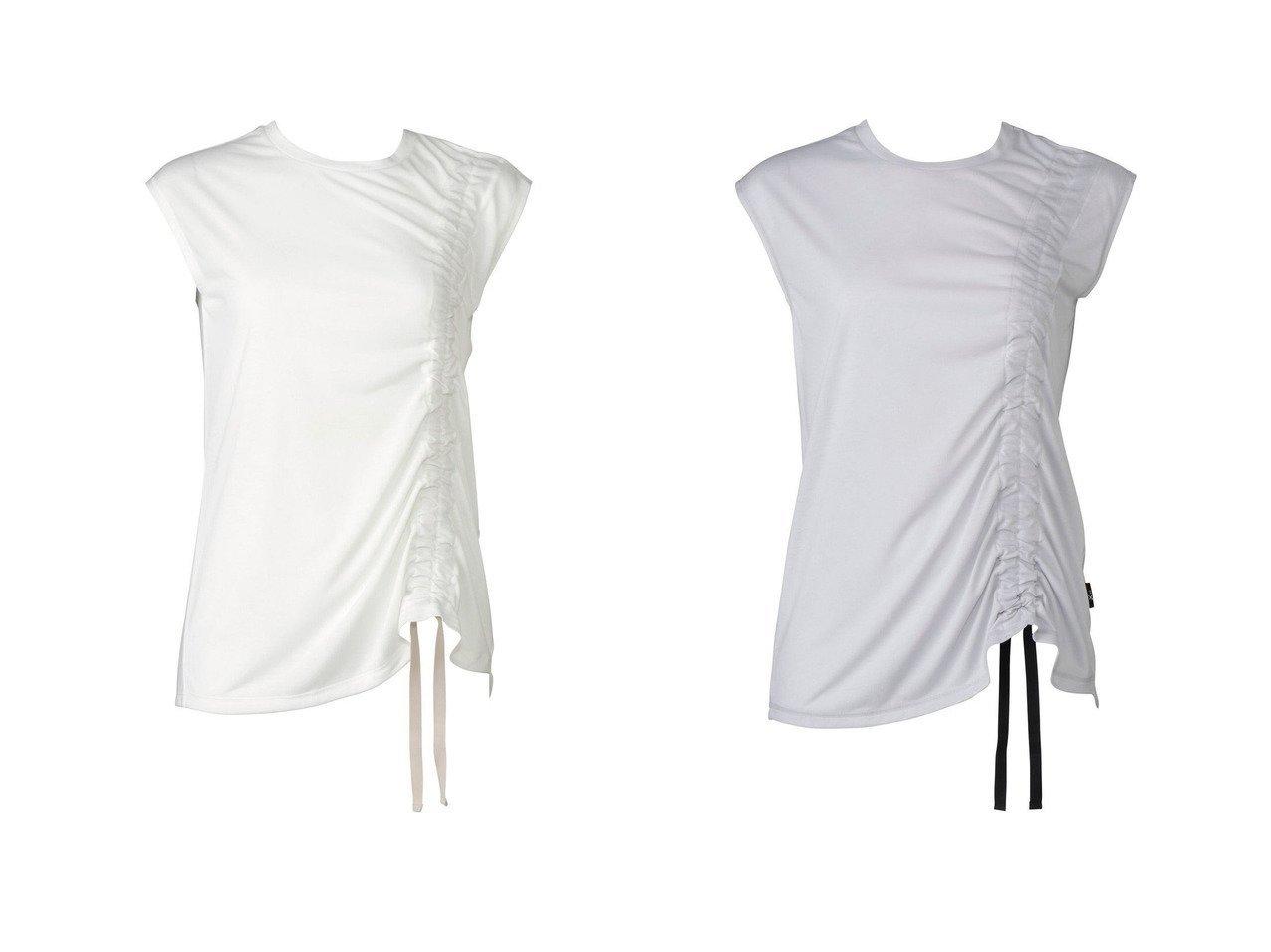 【CW-X/シーダブリューエックス】の【WOMEN】アウター トップス 半袖ワコール DFY520 【スポーツウェア・ヨガ・フィットネス・ダイエット】おすすめ!人気、トレンド・レディースファッションの通販 おすすめで人気の流行・トレンド、ファッションの通販商品 インテリア・家具・メンズファッション・キッズファッション・レディースファッション・服の通販 founy(ファニー) https://founy.com/ ファッション Fashion レディースファッション WOMEN アウター Coat Outerwear 送料無料 Free Shipping ギャザー フロント リボン ロング 半袖 |ID:crp329100000052769