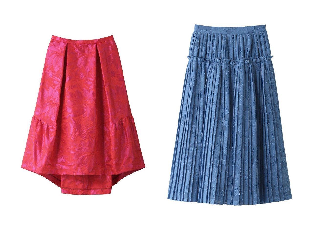 【LANVIN en Bleu/ランバン オン ブルー】のフラワージャガードタックスカート&フラワーシフォンプリーツスカート 【スカート】おすすめ!人気トレンド・レディースファッション通販 おすすめで人気の流行・トレンド、ファッションの通販商品 インテリア・家具・メンズファッション・キッズファッション・レディースファッション・服の通販 founy(ファニー) https://founy.com/ ファッション Fashion レディースファッション WOMEN スカート Skirt プリーツスカート Pleated Skirts ロングスカート Long Skirt 2021年 2021 2021-2022秋冬・A/W AW・Autumn/Winter・FW・Fall-Winter・2021-2022 A/W・秋冬 AW・Autumn/Winter・FW・Fall-Winter おすすめ Recommend ギャザー ジャカード セットアップ パーティ フラワー エアリー シアー シフォン フリル プリーツ ロング  ID:crp329100000052931
