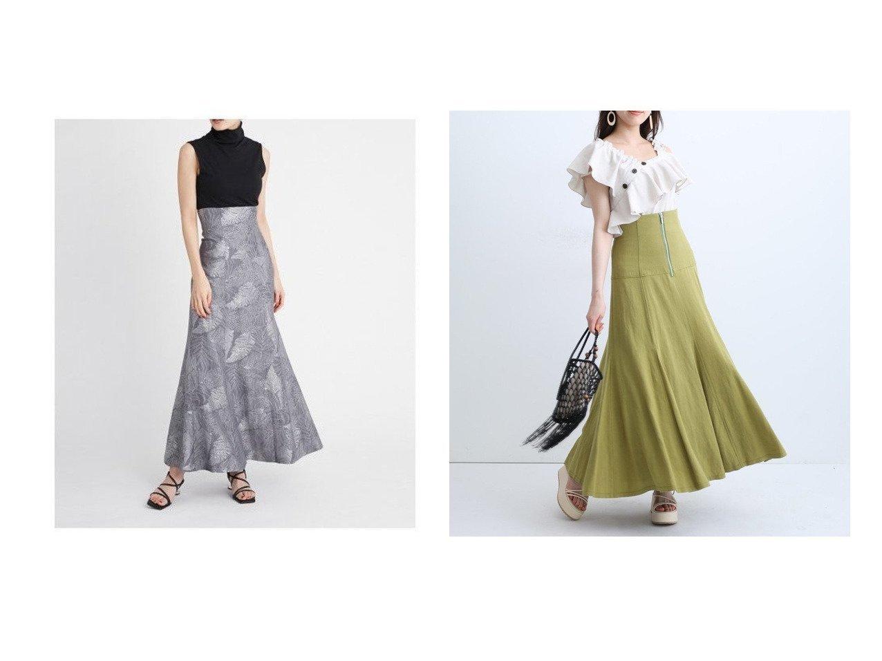 【Mystrada/マイストラーダ】のボリュームリネンフレアスカート&【FRAY I.D/フレイ アイディー】のリーフジャガードナロースカート 【スカート】おすすめ!人気トレンド・レディースファッション通販 おすすめで人気の流行・トレンド、ファッションの通販商品 インテリア・家具・メンズファッション・キッズファッション・レディースファッション・服の通販 founy(ファニー) https://founy.com/ ファッション Fashion レディースファッション WOMEN スカート Skirt Aライン/フレアスカート Flared A-Line Skirts コルセット ストレート スマート ヨーク リーフ レース 再入荷 Restock/Back in Stock/Re Arrival 夏 Summer ギャザー フォルム フレア リネン  ID:crp329100000052933