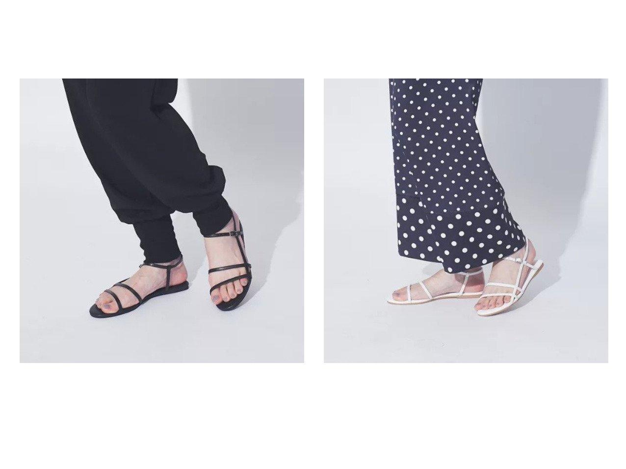 【Rouge vif/ルージュ ヴィフ】のストラップフラットサンダル 【シューズ・靴】おすすめ!人気トレンド・レディースファッション通販 おすすめで人気の流行・トレンド、ファッションの通販商品 インテリア・家具・メンズファッション・キッズファッション・レディースファッション・服の通販 founy(ファニー) https://founy.com/ ファッション Fashion レディースファッション WOMEN インソール クッション サンダル シューズ フラット ラップ |ID:crp329100000052945