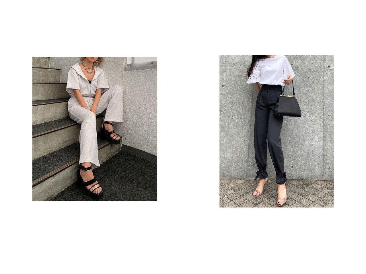【anuans/アニュアンス】のウエストタックストリングパンツ&【EGOIST/エゴイスト】のスウェット半袖オールインワン おすすめ!人気トレンド・レディースファッション通販 おすすめで人気の流行・トレンド、ファッションの通販商品 インテリア・家具・メンズファッション・キッズファッション・レディースファッション・服の通販 founy(ファニー) https://founy.com/ ファッション Fashion レディースファッション WOMEN トップス・カットソー Tops/Tshirt パーカ Sweats スウェット Sweat ワンピース Dress オールインワン ワンピース All In One Dress パンツ Pants 春 Spring 軽量 スウェット スニーカー ボトム 半袖 楽ちん ワイド 2021年 2021 S/S・春夏 SS・Spring/Summer 2021春夏・S/S SS/Spring/Summer/2021 おすすめ Recommend 夏 Summer リボン  ID:crp329100000053071